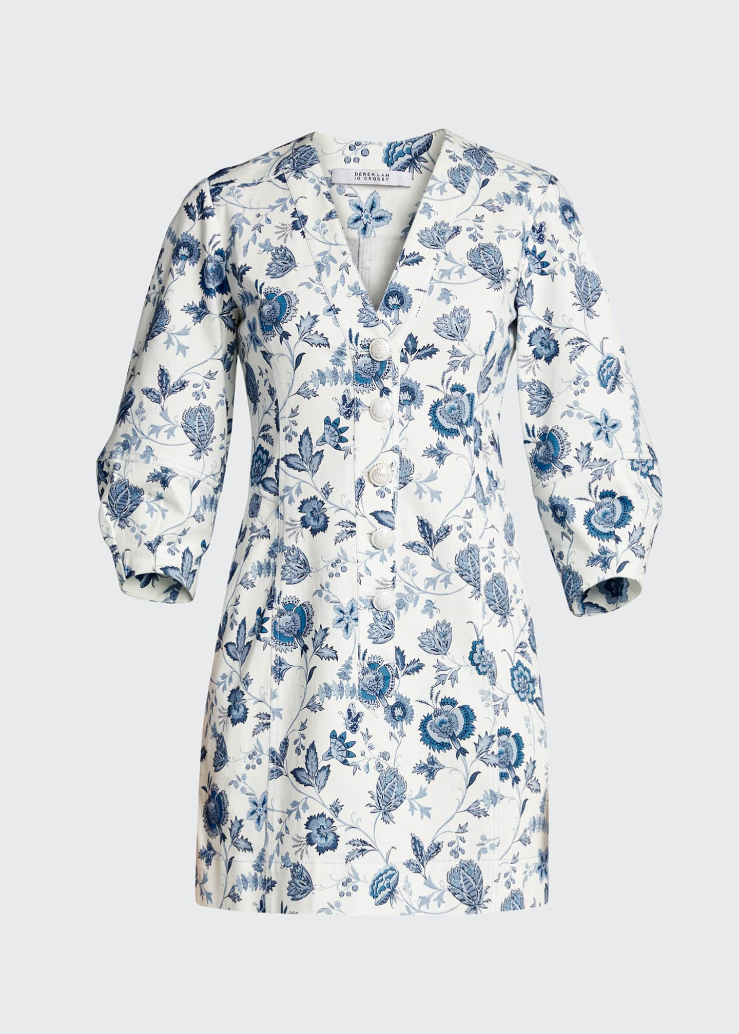 Image 5 of 5: Ottilie Floral Print 3/4-Sleeve Dress
