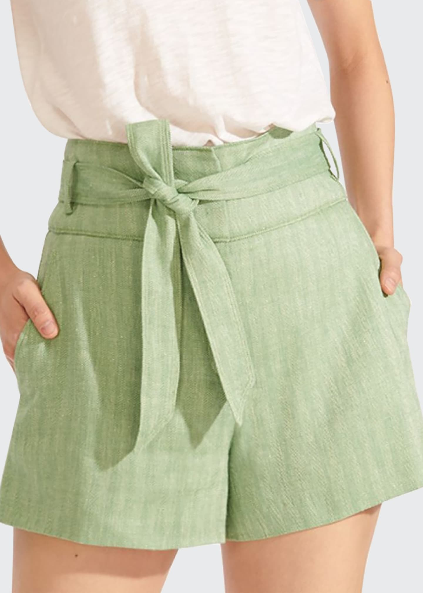 Image 2 of 4: Borneo High-Waist Belted Shorts