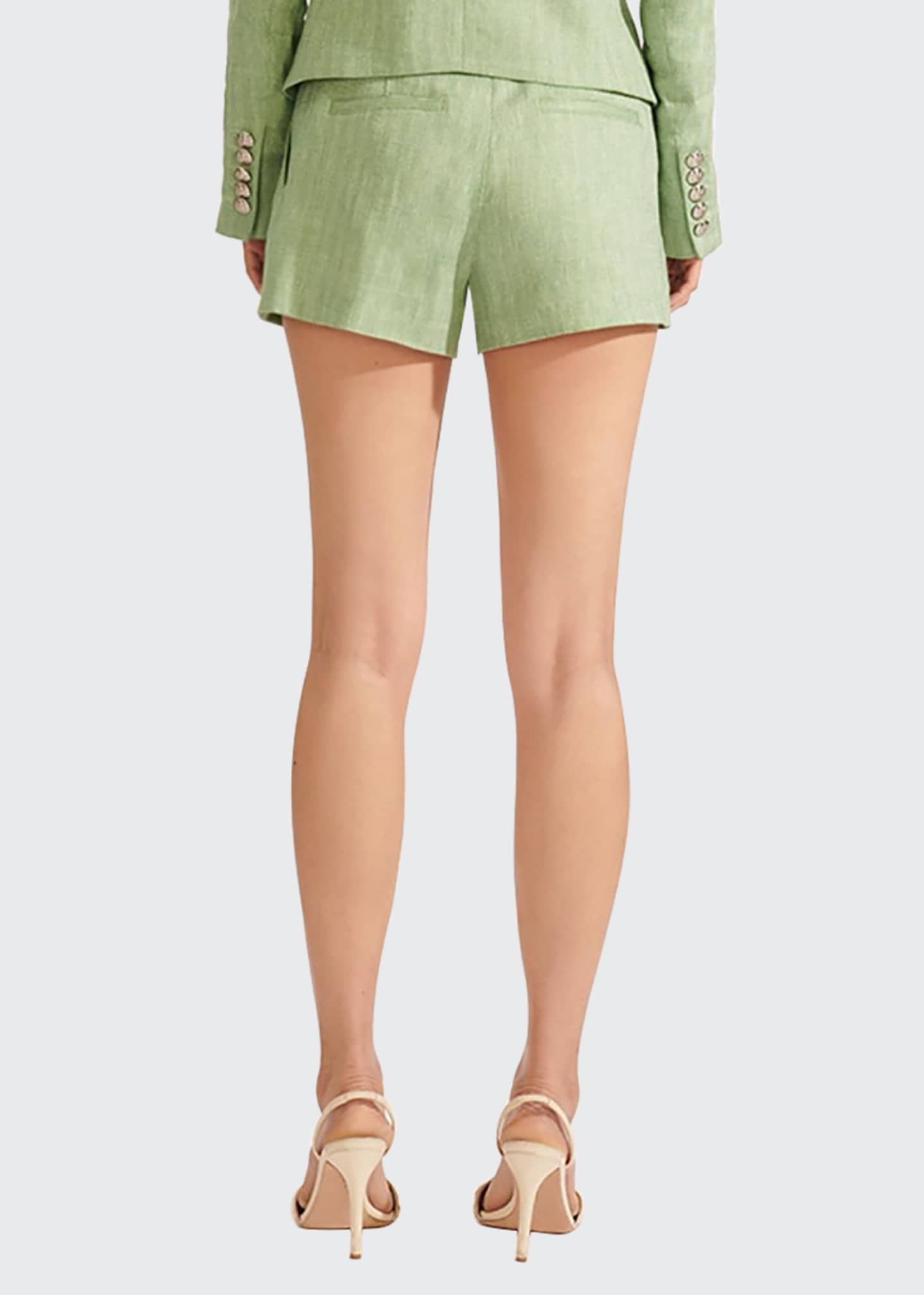 Image 3 of 4: Borneo High-Waist Belted Shorts