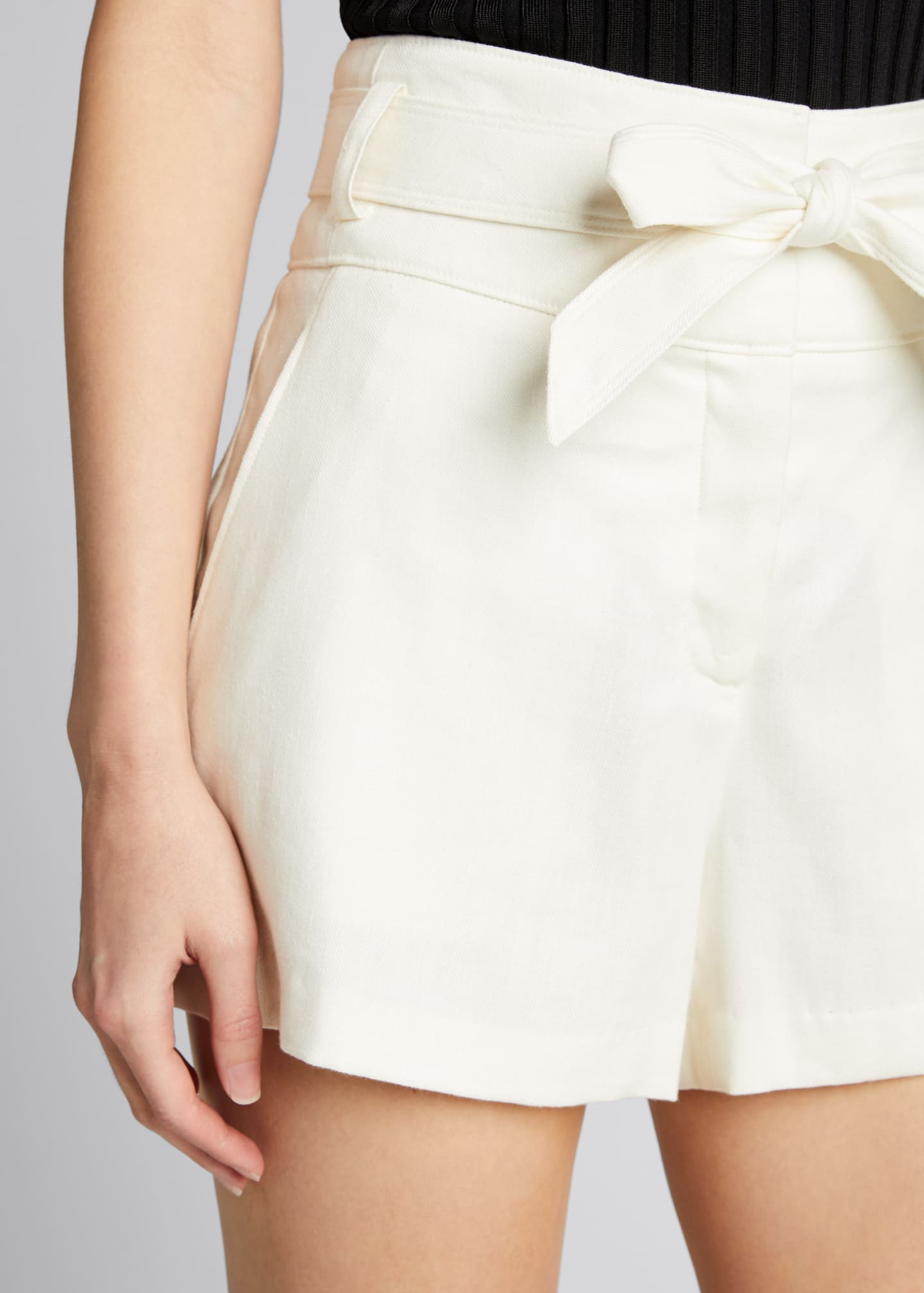 Image 4 of 4: Borneo High-Waist Belted Shorts
