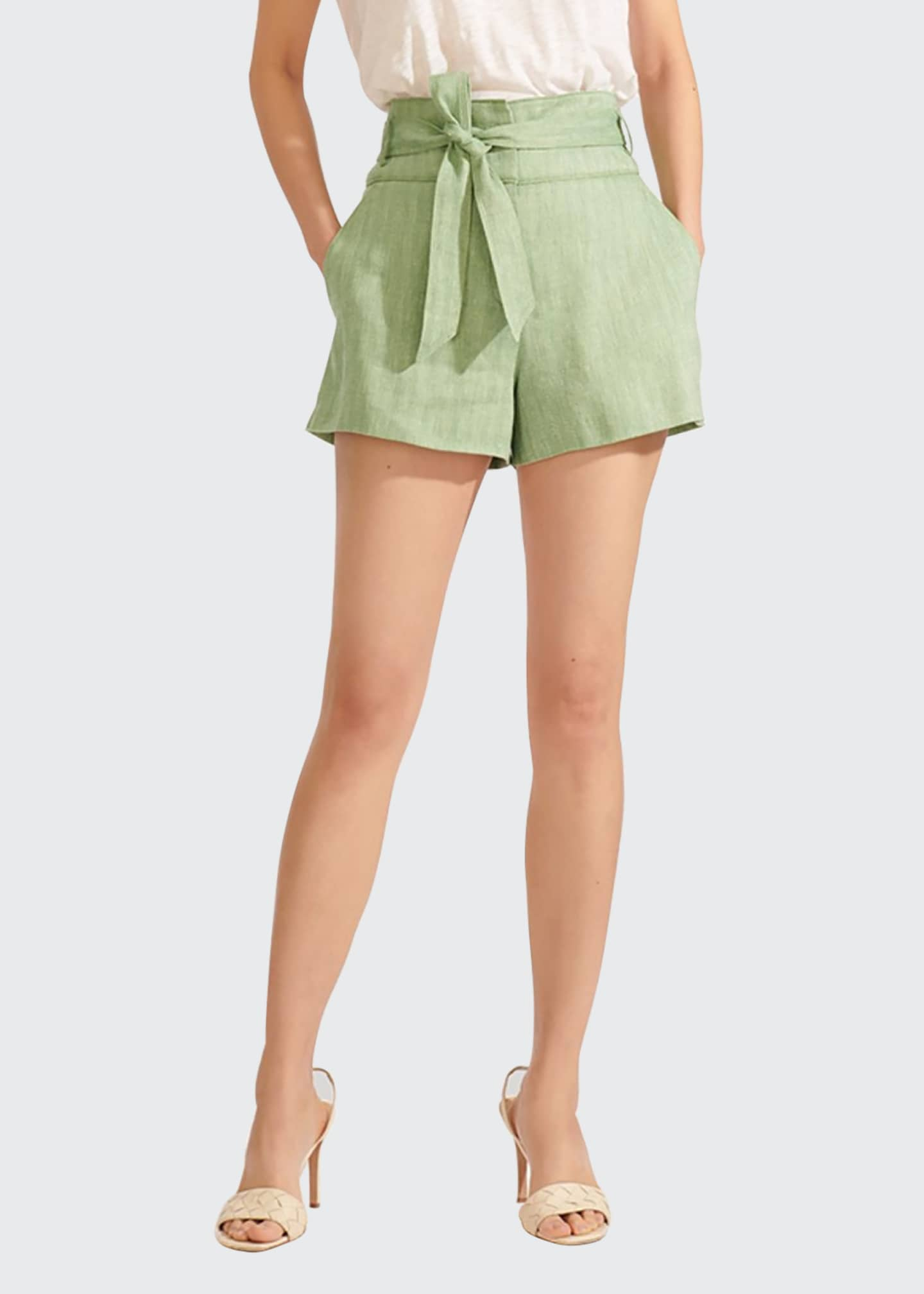 Image 1 of 4: Borneo High-Waist Belted Shorts
