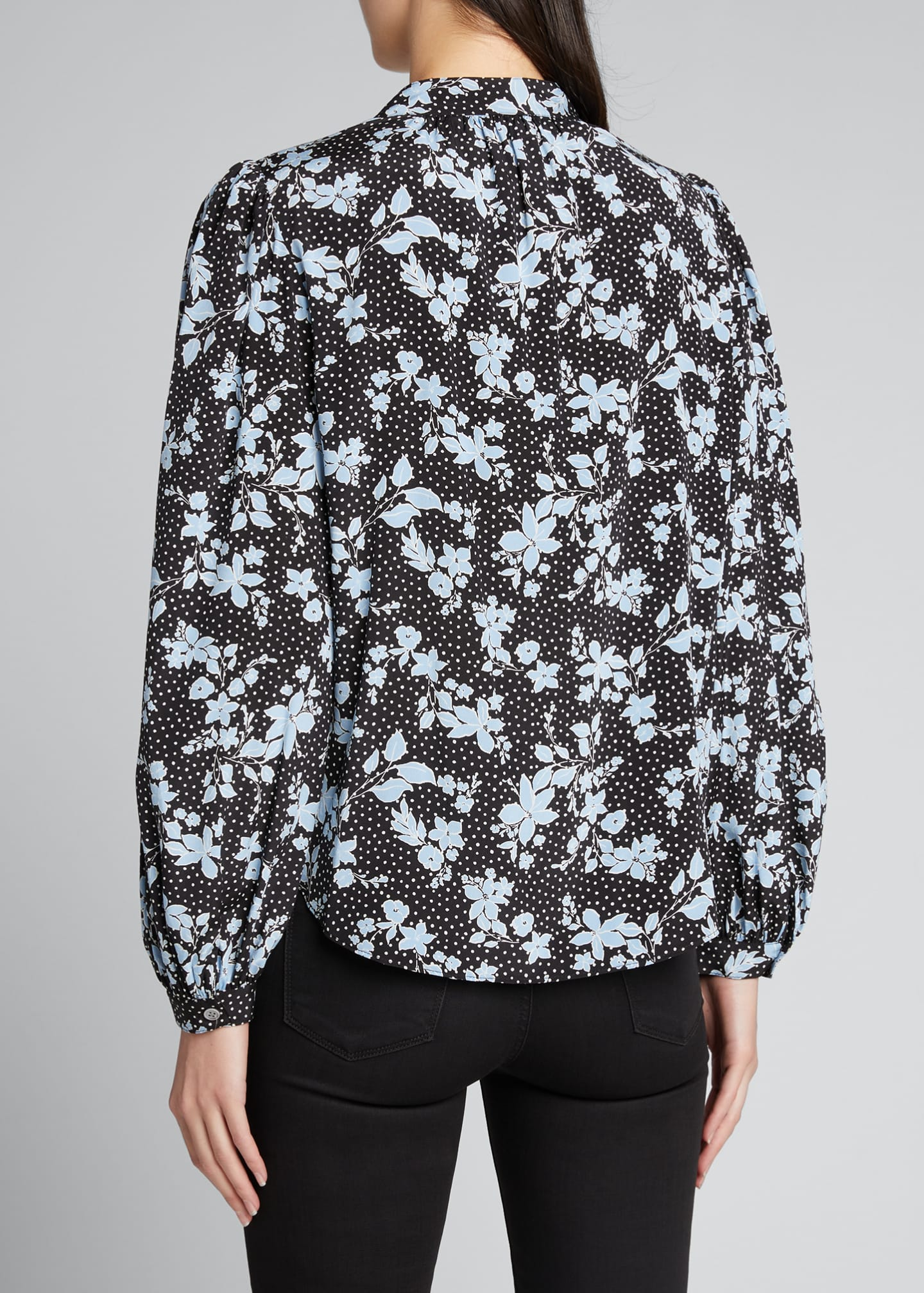 Image 2 of 5: Ashlynn Dotted Floral Print Blouse