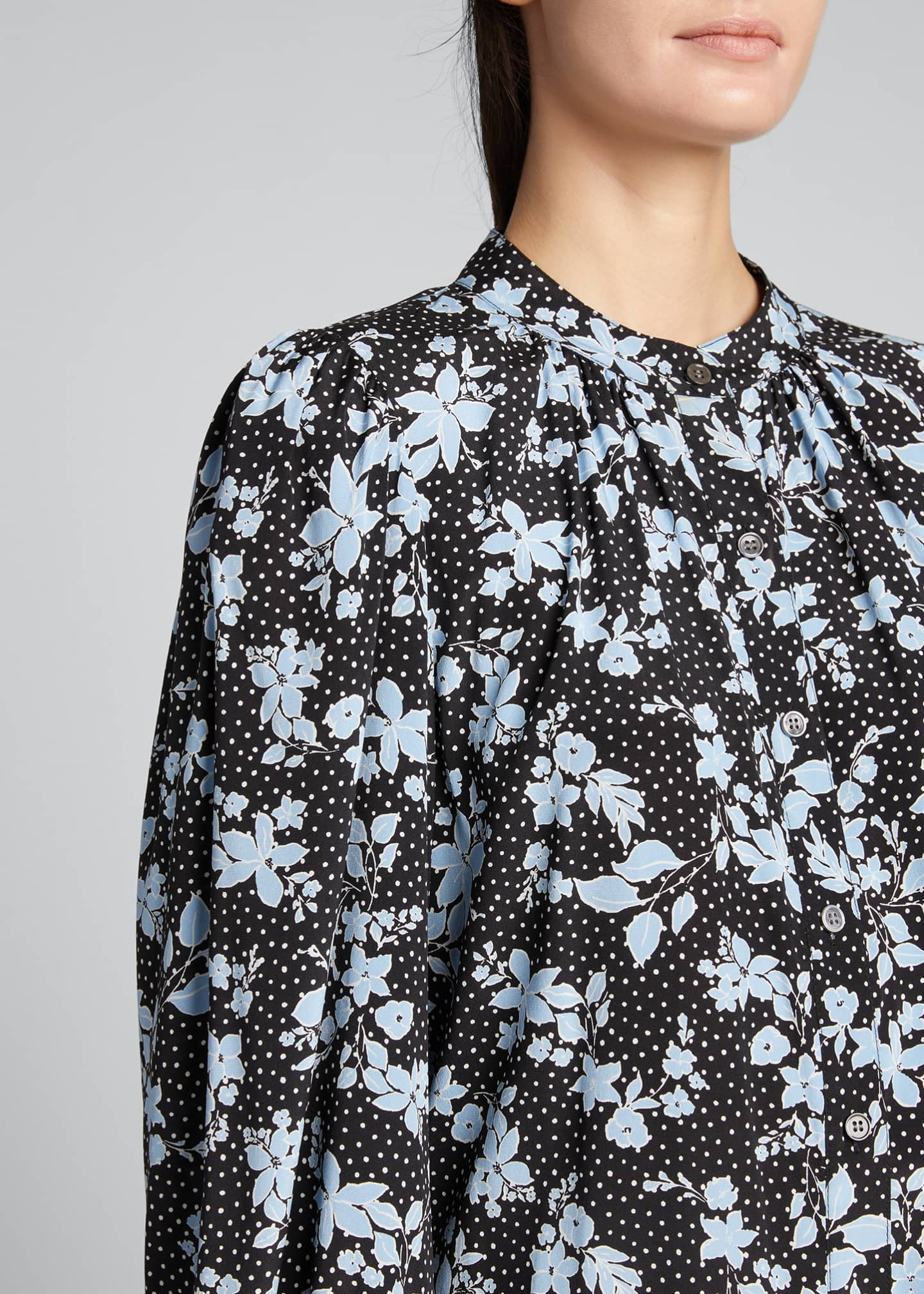 Image 4 of 5: Ashlynn Dotted Floral Print Blouse