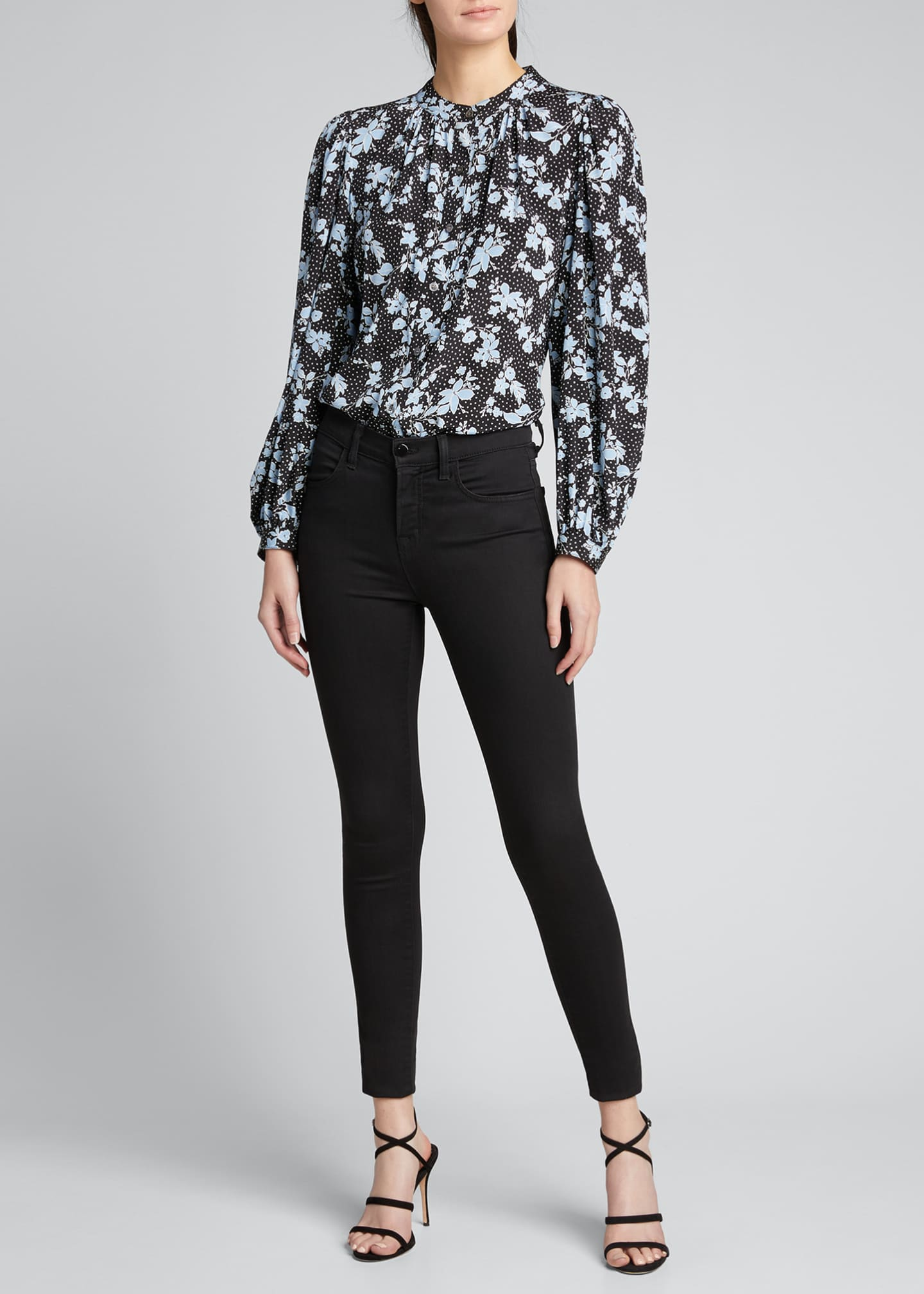 Image 1 of 5: Ashlynn Dotted Floral Print Blouse