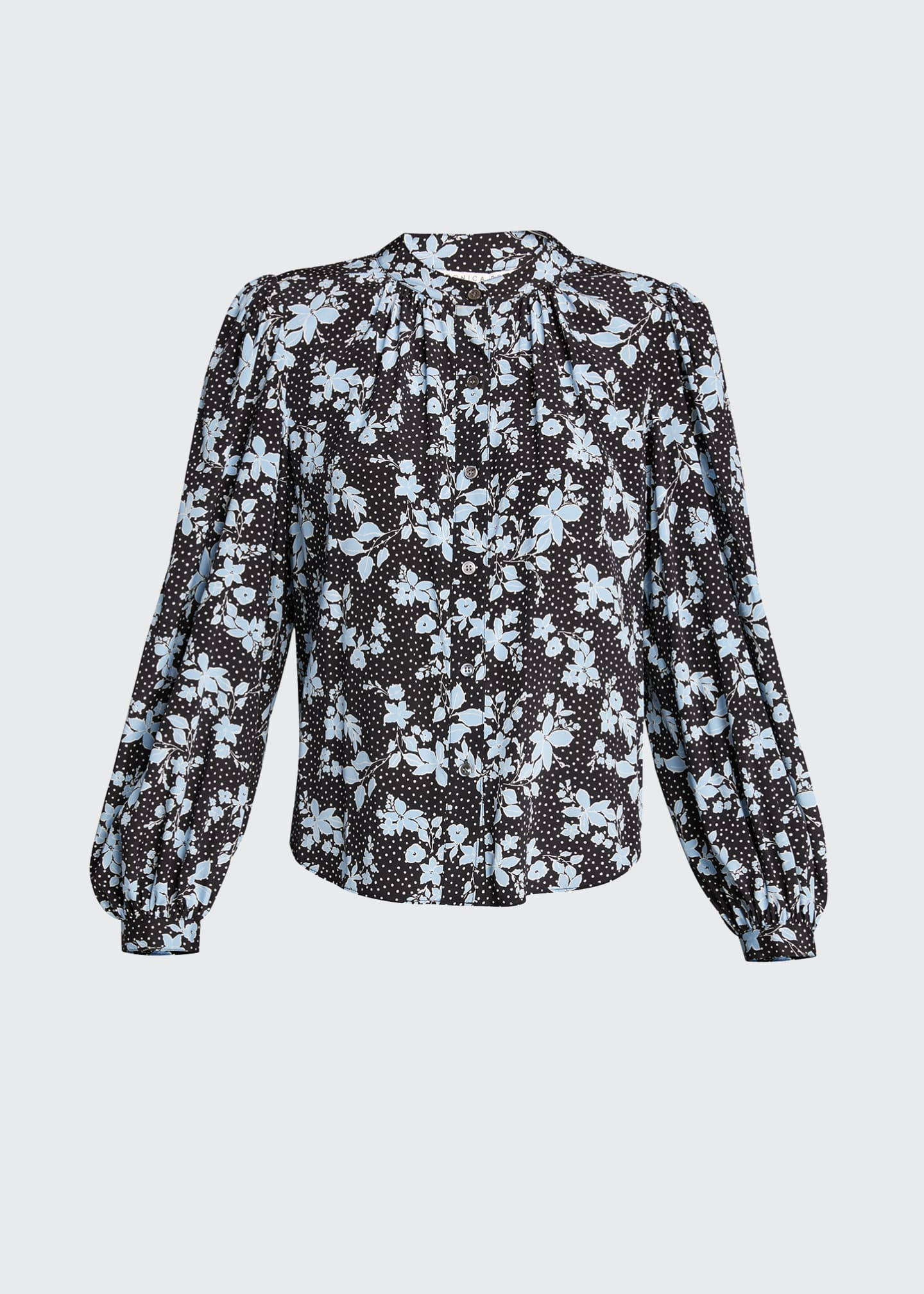 Image 5 of 5: Ashlynn Dotted Floral Print Blouse