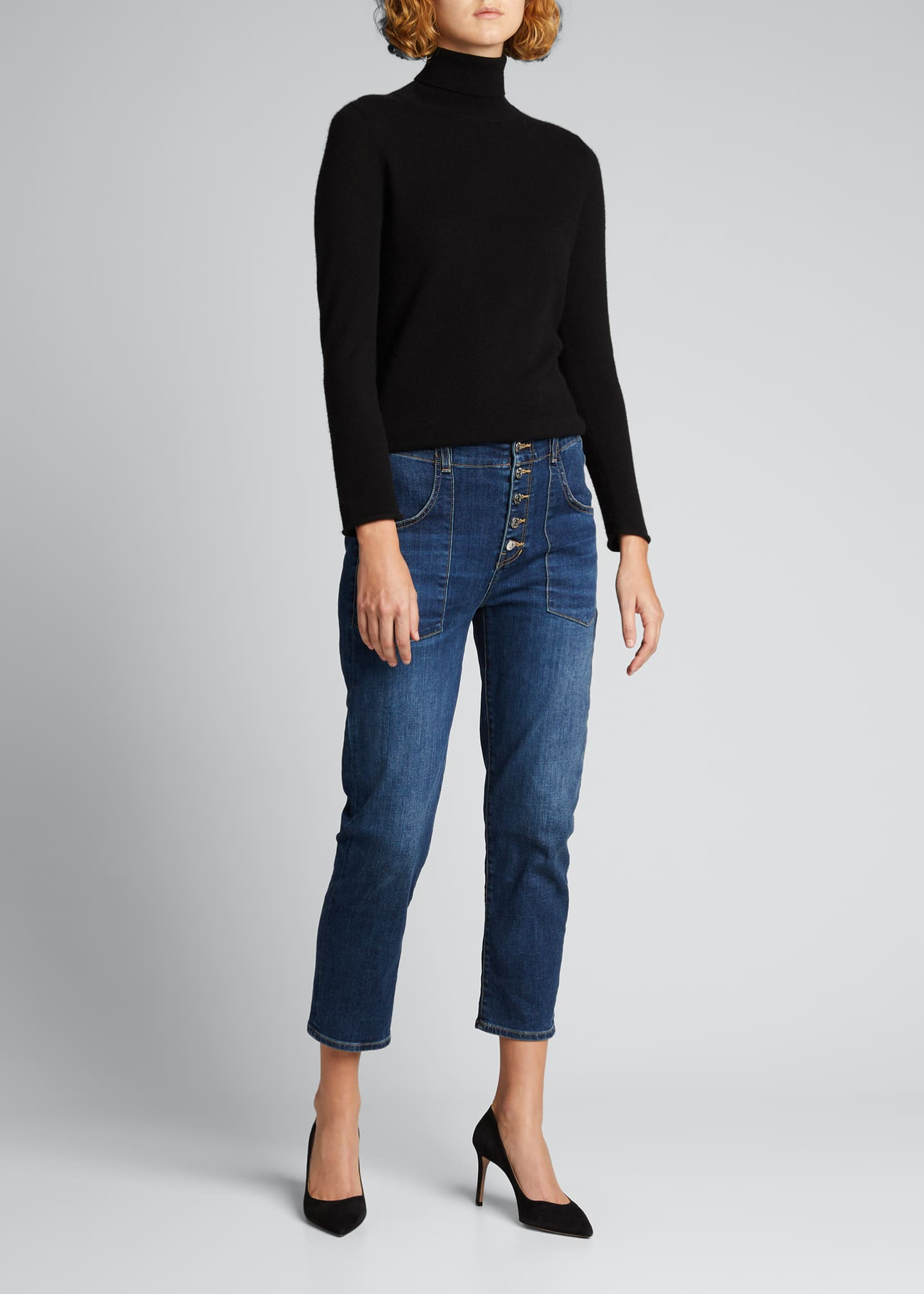 Arya Cargo Straight-Leg Cropped Jeans