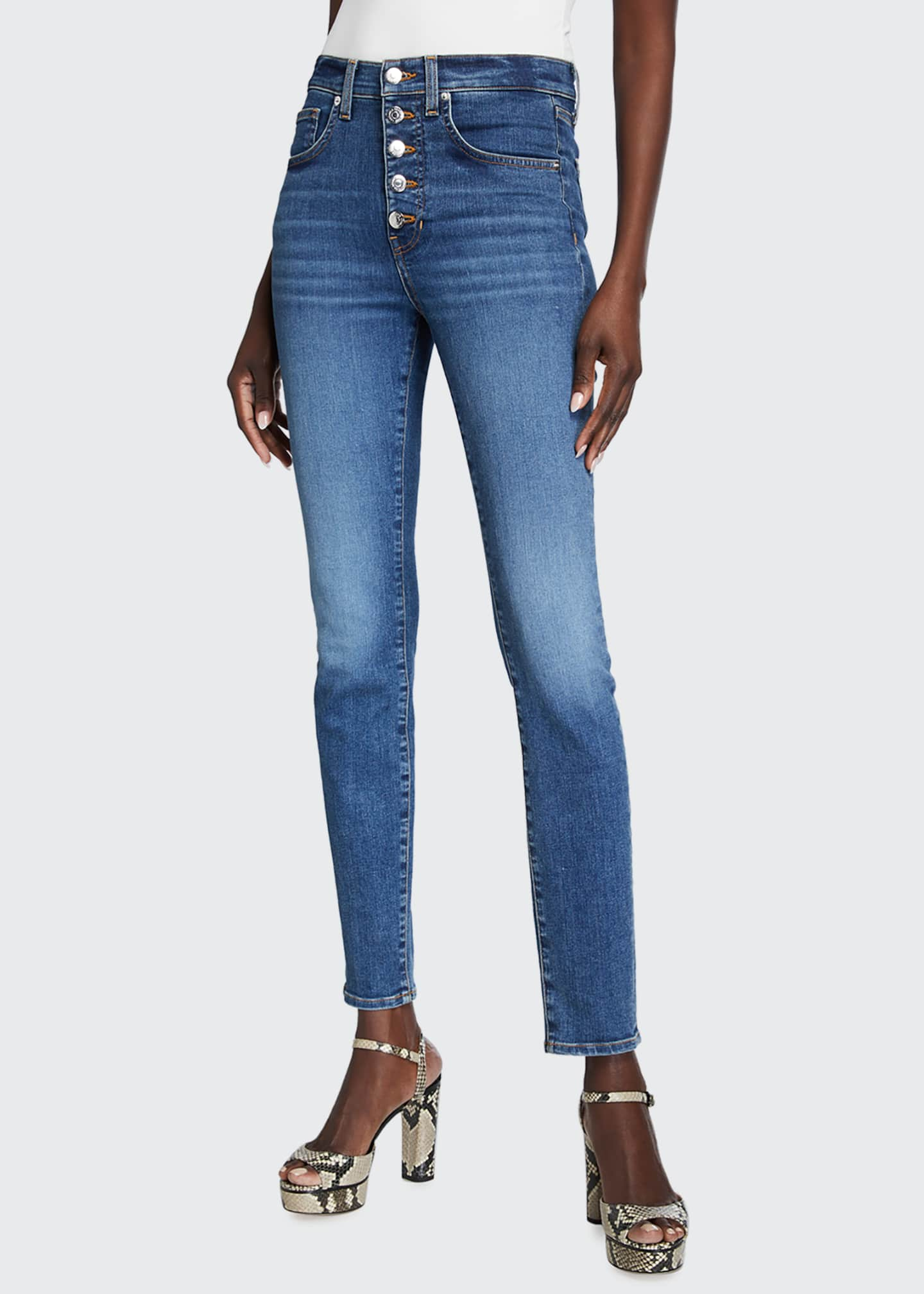 Image 1 of 5: Debbie High-Rise Skinny Jeans