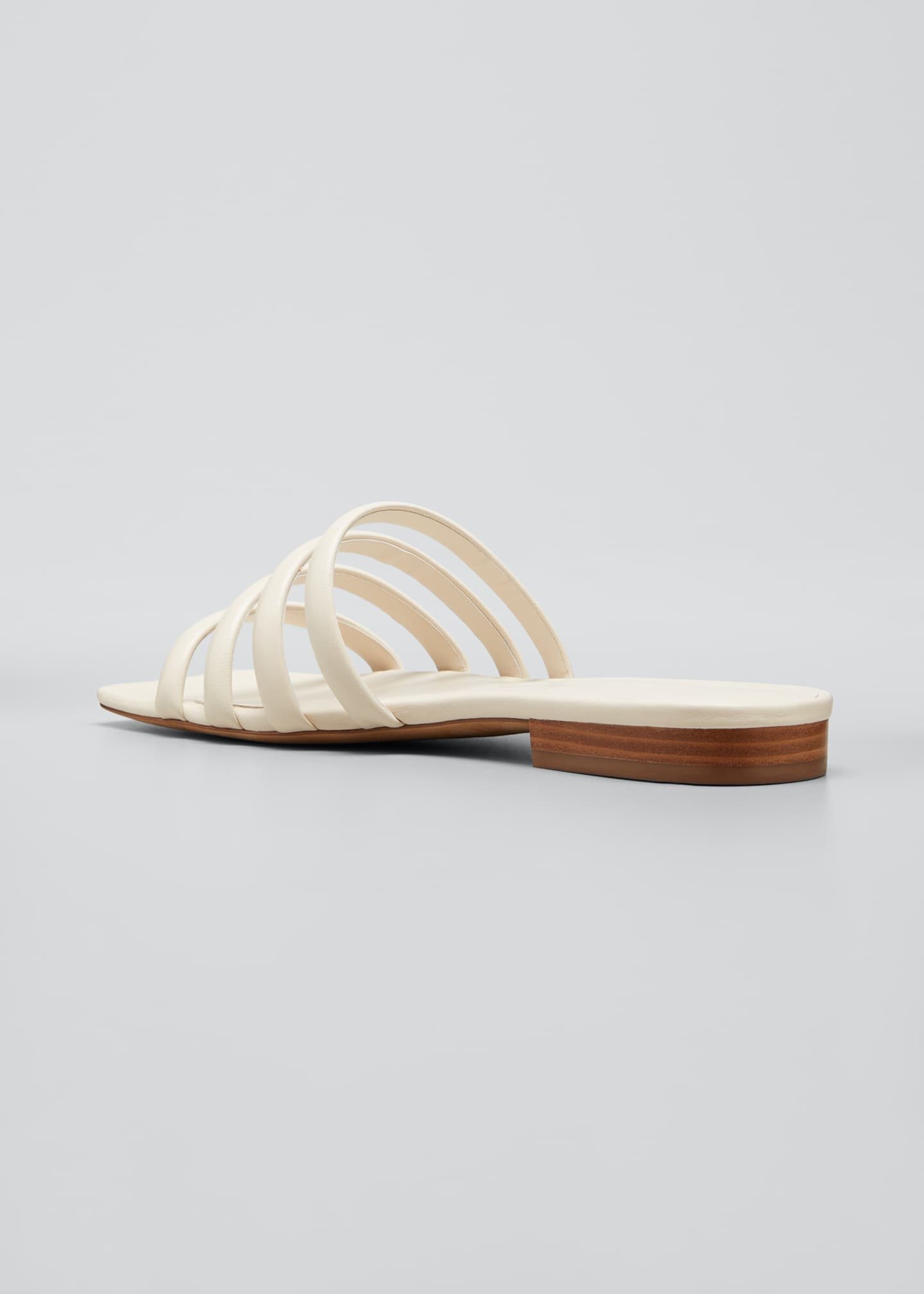 Image 4 of 5: Zahara Flat Leather Slide Sandals