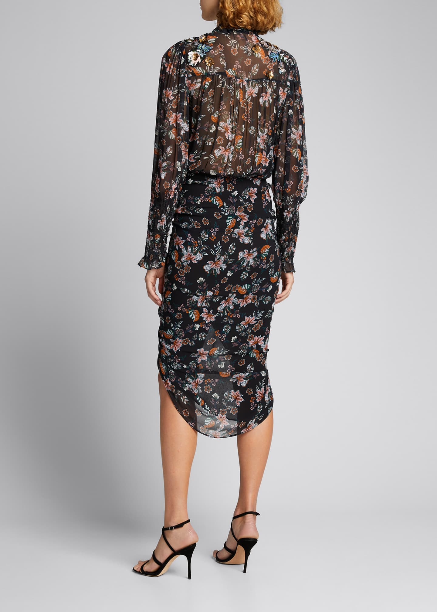Image 2 of 5: Shaia Floral Ruched Dress