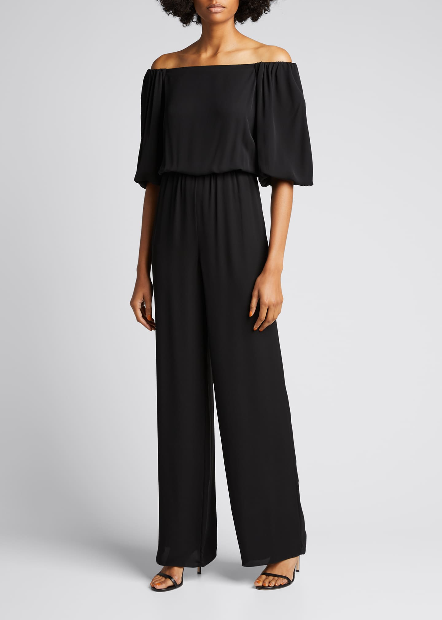 Image 3 of 5: Off-the-Shoulder Classic Jumpsuit