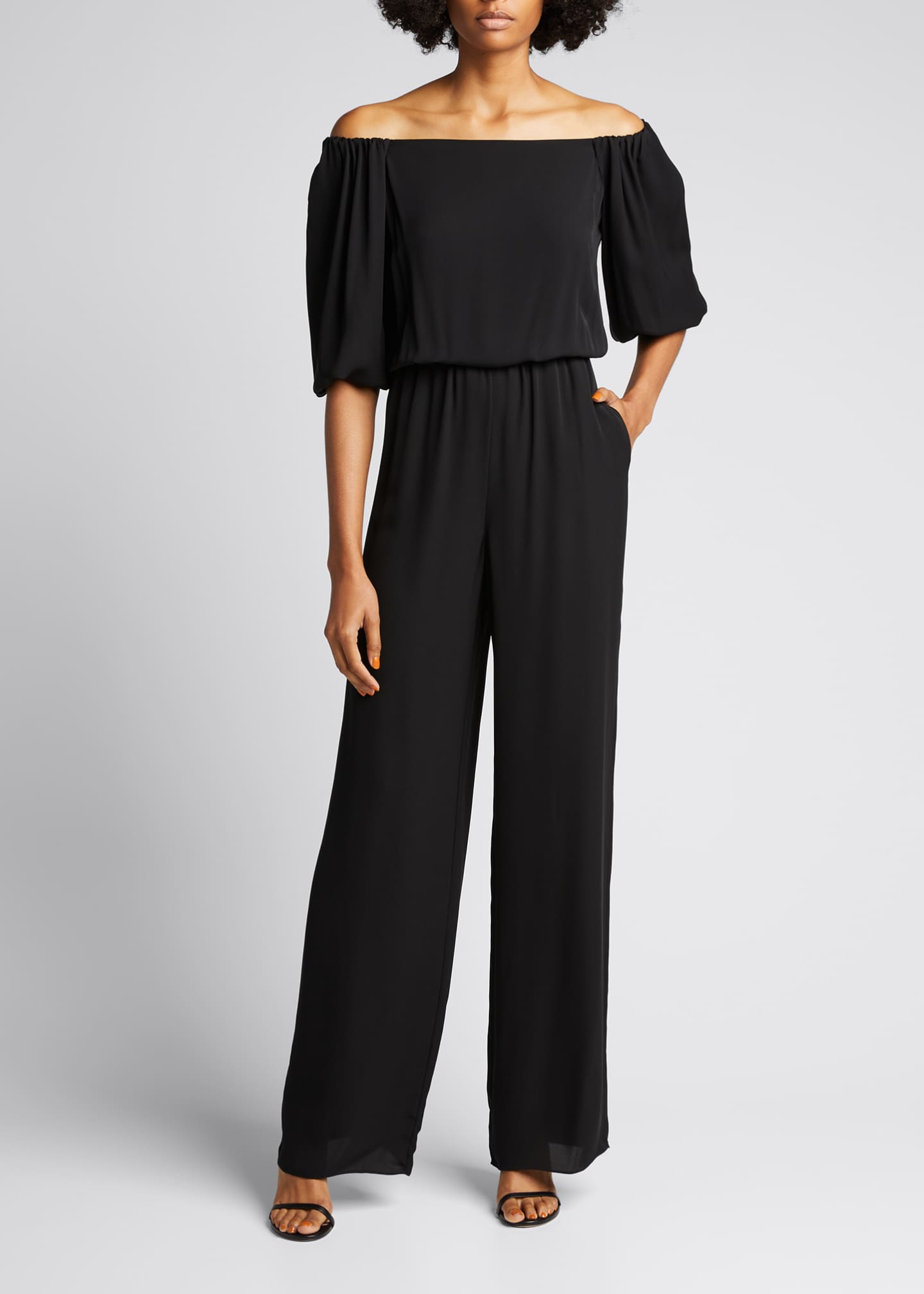Image 1 of 5: Off-the-Shoulder Classic Jumpsuit