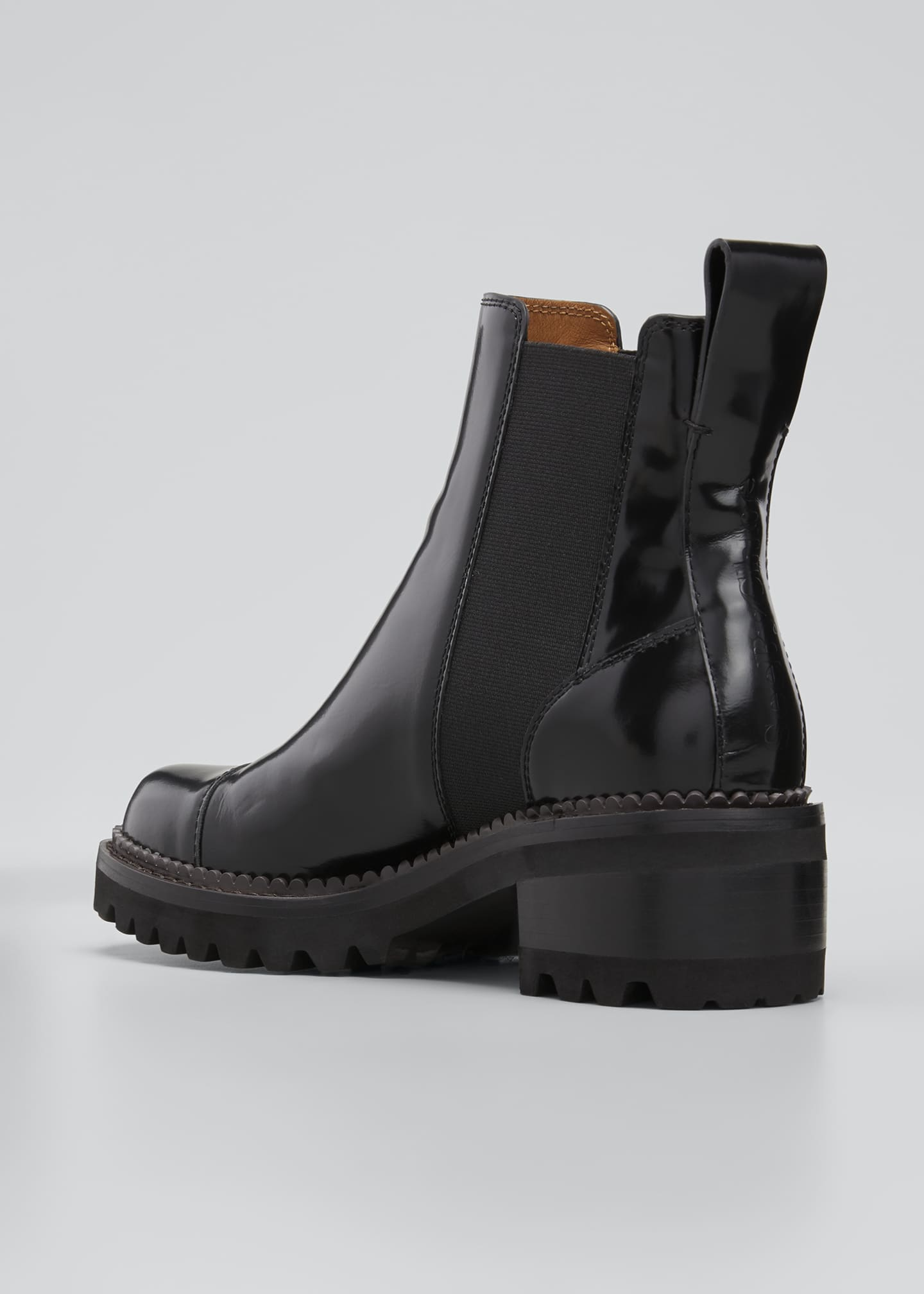 Image 2 of 3: Mallory 30mm Leather Lug-Sole Chelsea Boots