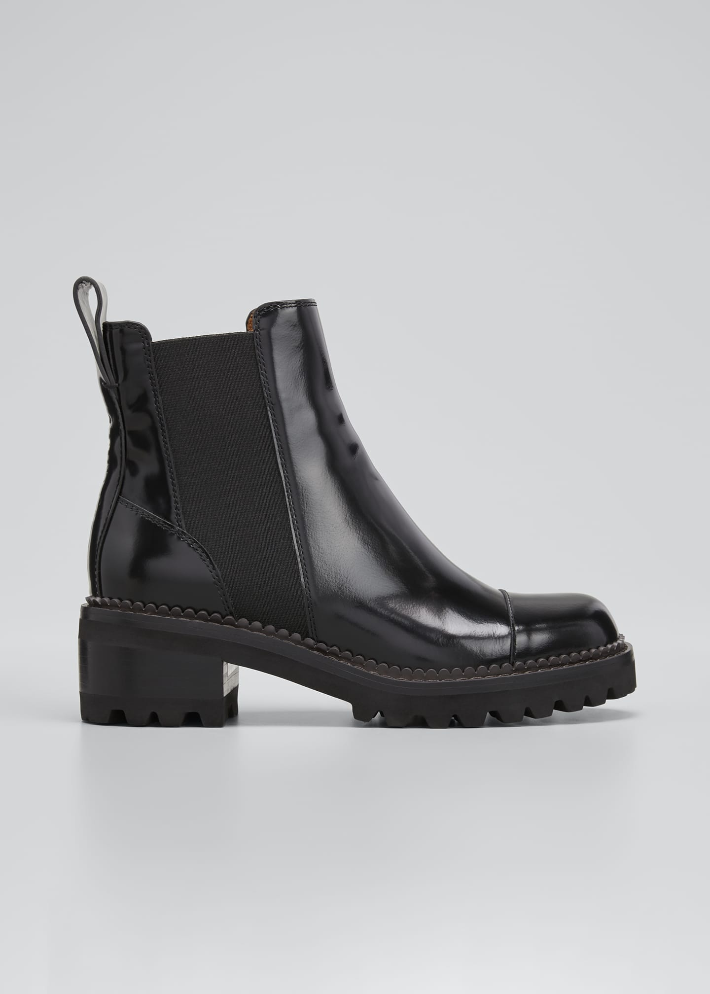 Image 1 of 3: Mallory 30mm Leather Lug-Sole Chelsea Boots