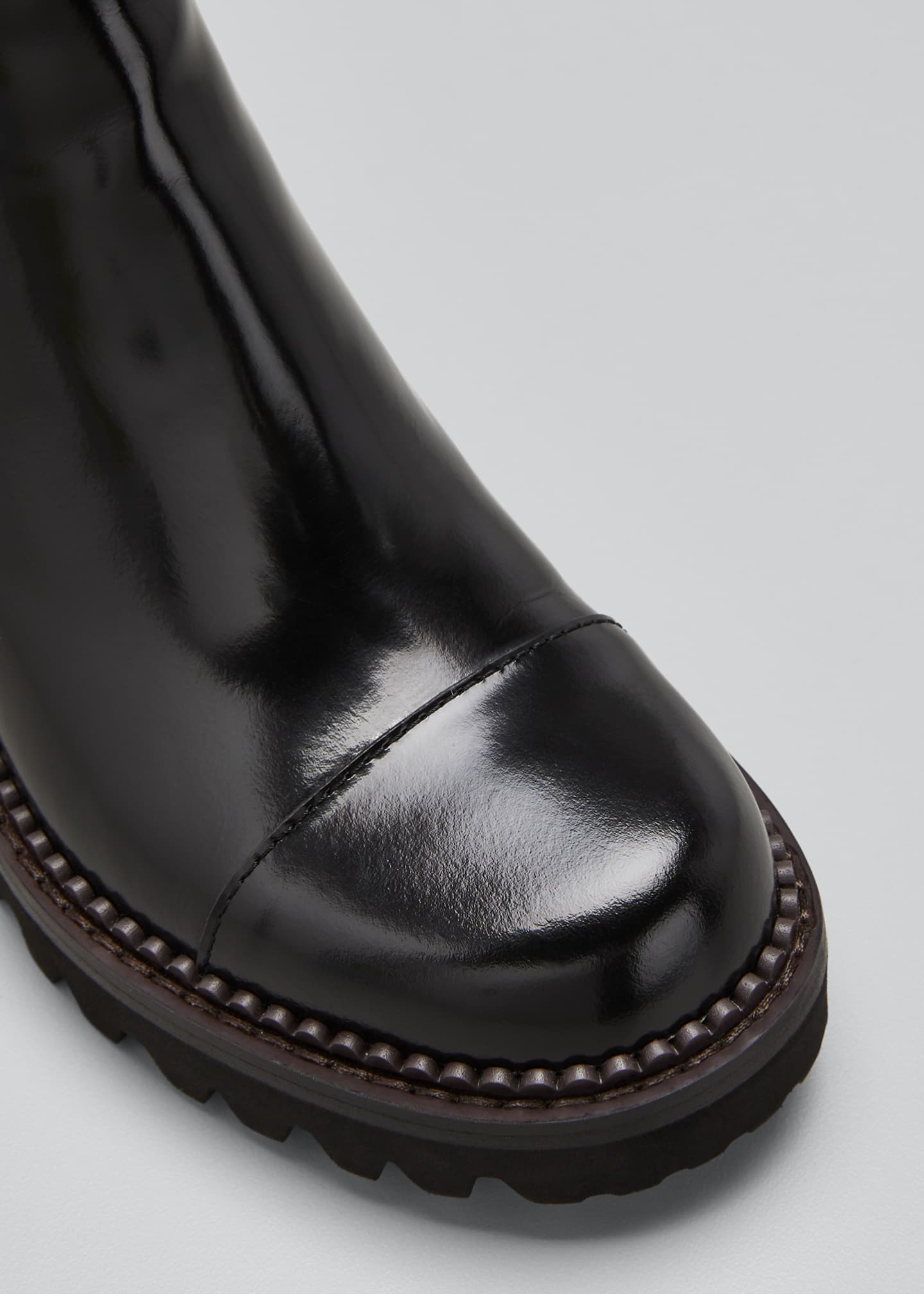 Image 3 of 3: Mallory 30mm Leather Lug-Sole Chelsea Boots