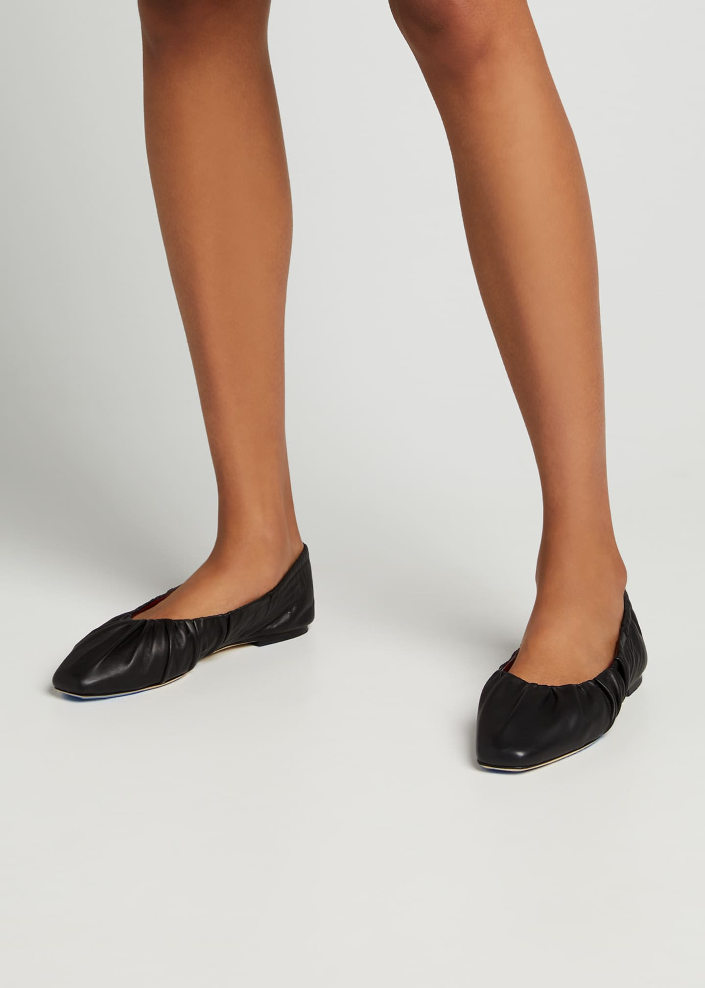 Image 2 of 5: Tuli Ruched Flat Ballerina Flats