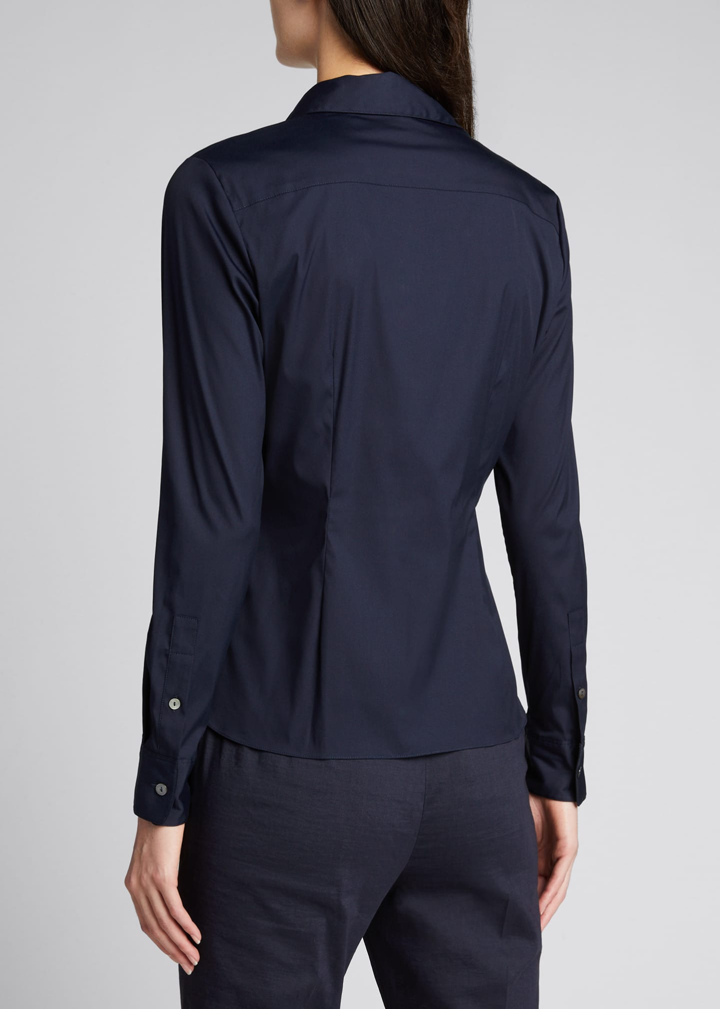 Image 2 of 5: Classic Straight Long-Sleeve Shirt