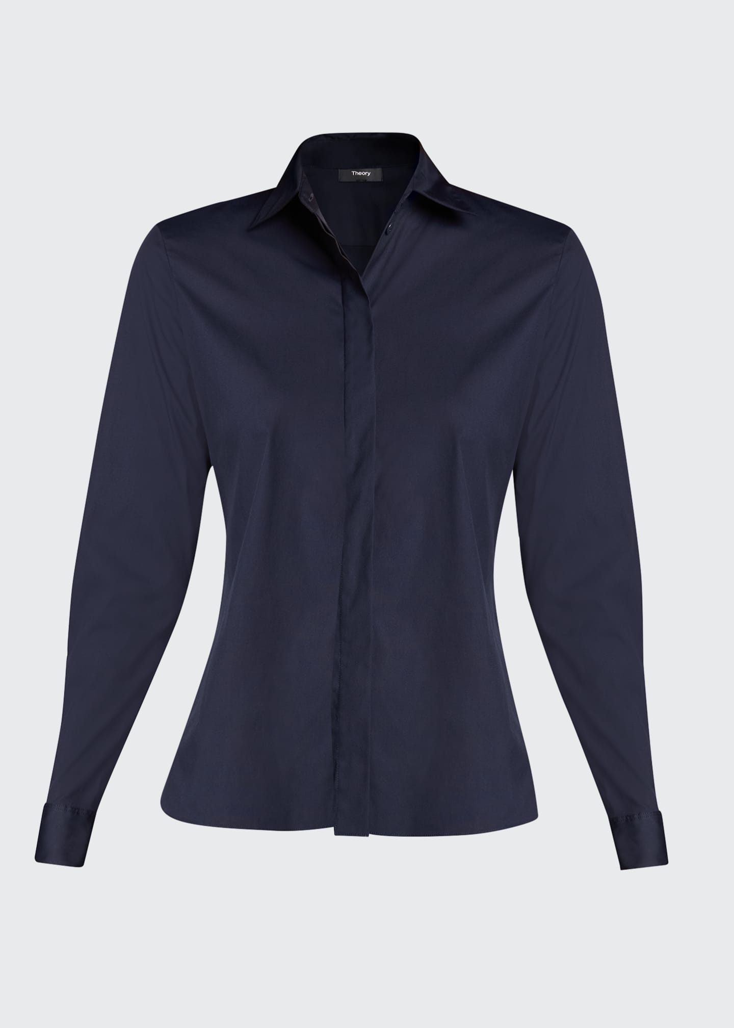 Image 5 of 5: Classic Straight Long-Sleeve Shirt
