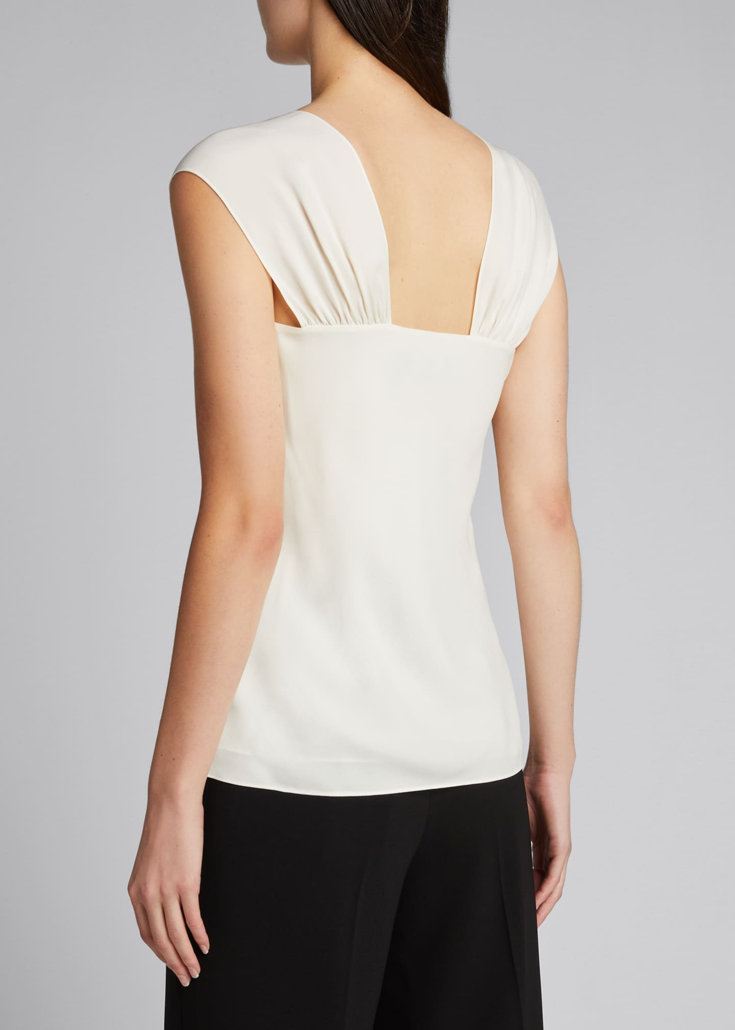 Image 2 of 5: Ruched V-Neck Sleeveless Top
