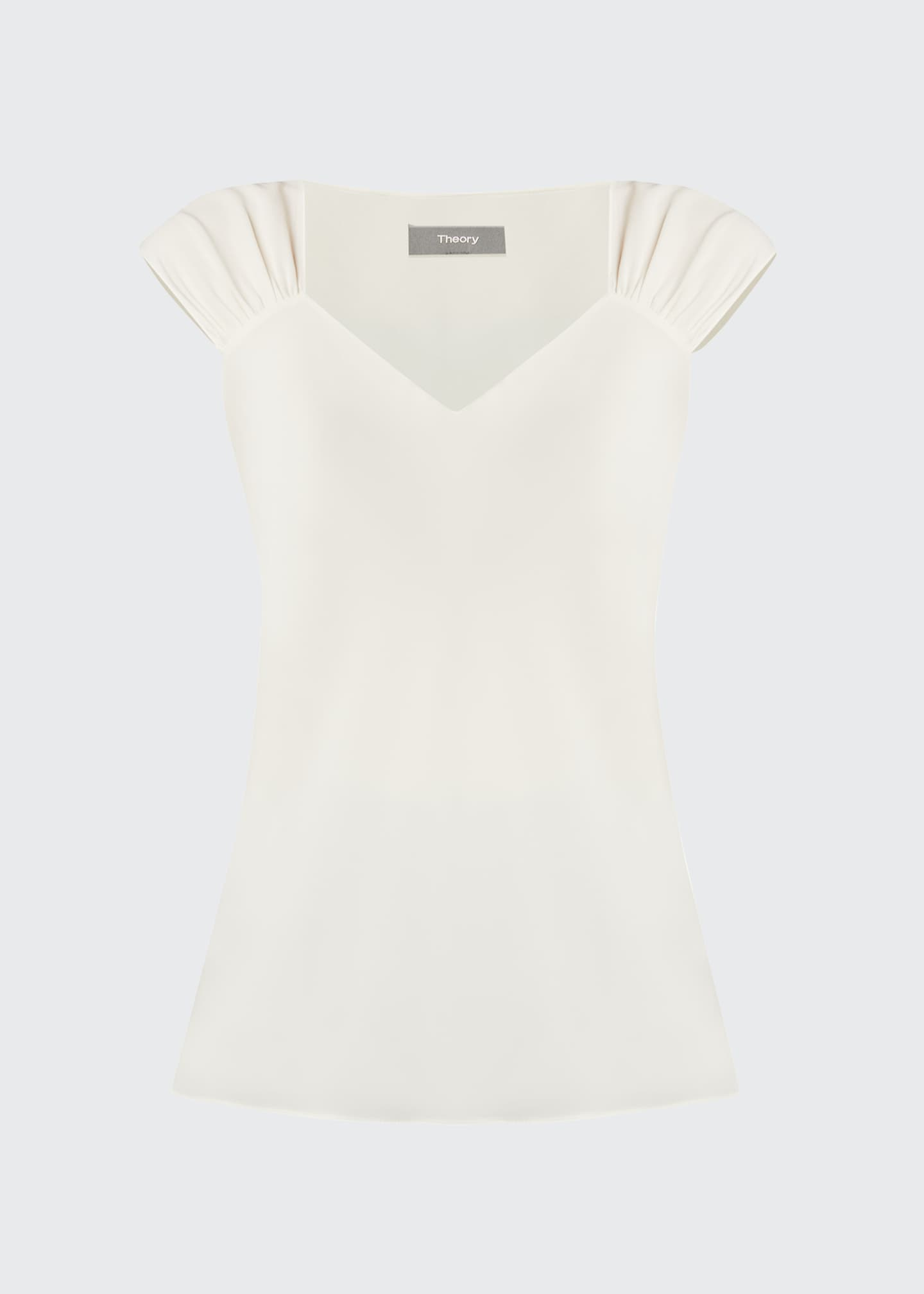 Image 5 of 5: Ruched V-Neck Sleeveless Top