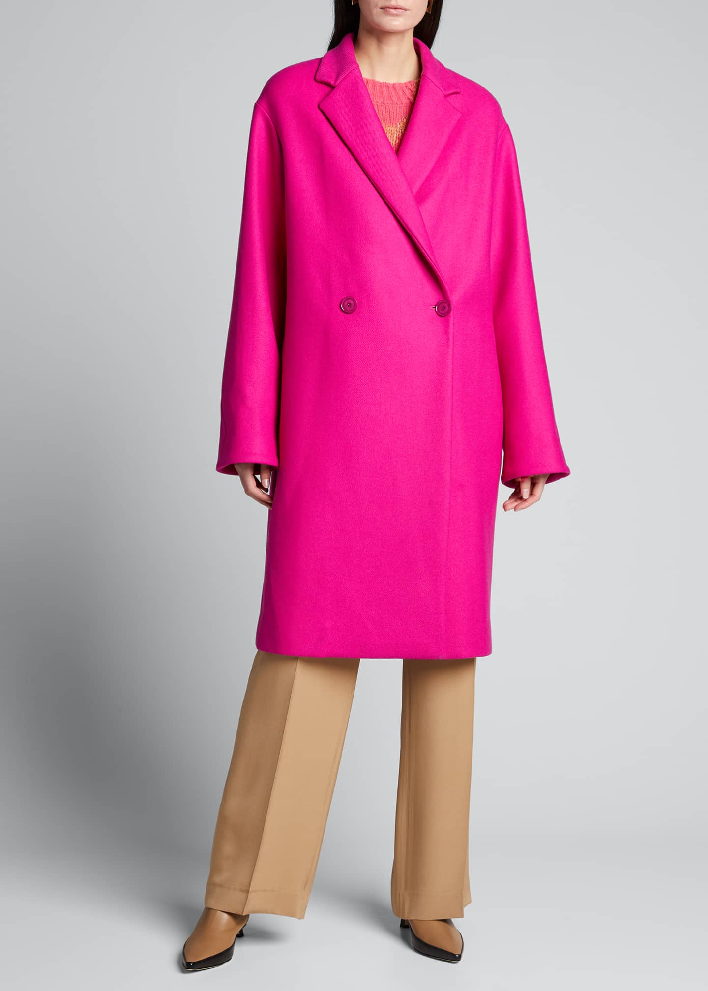 Image 3 of 5: Blackwood Wool Oversized Coat