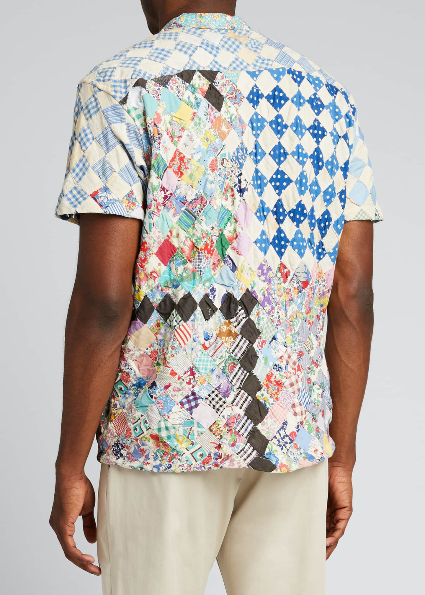 Image 2 of 5: Men's One-of-a-Kind Stamp Quilt Bowling Shirt