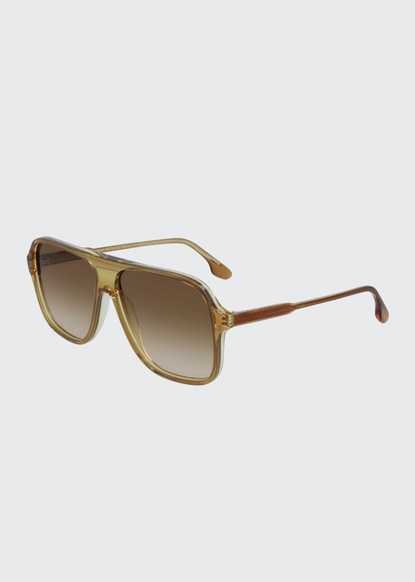 Image 1 of 1: Guilloche Acetate Navigator Sunglasses