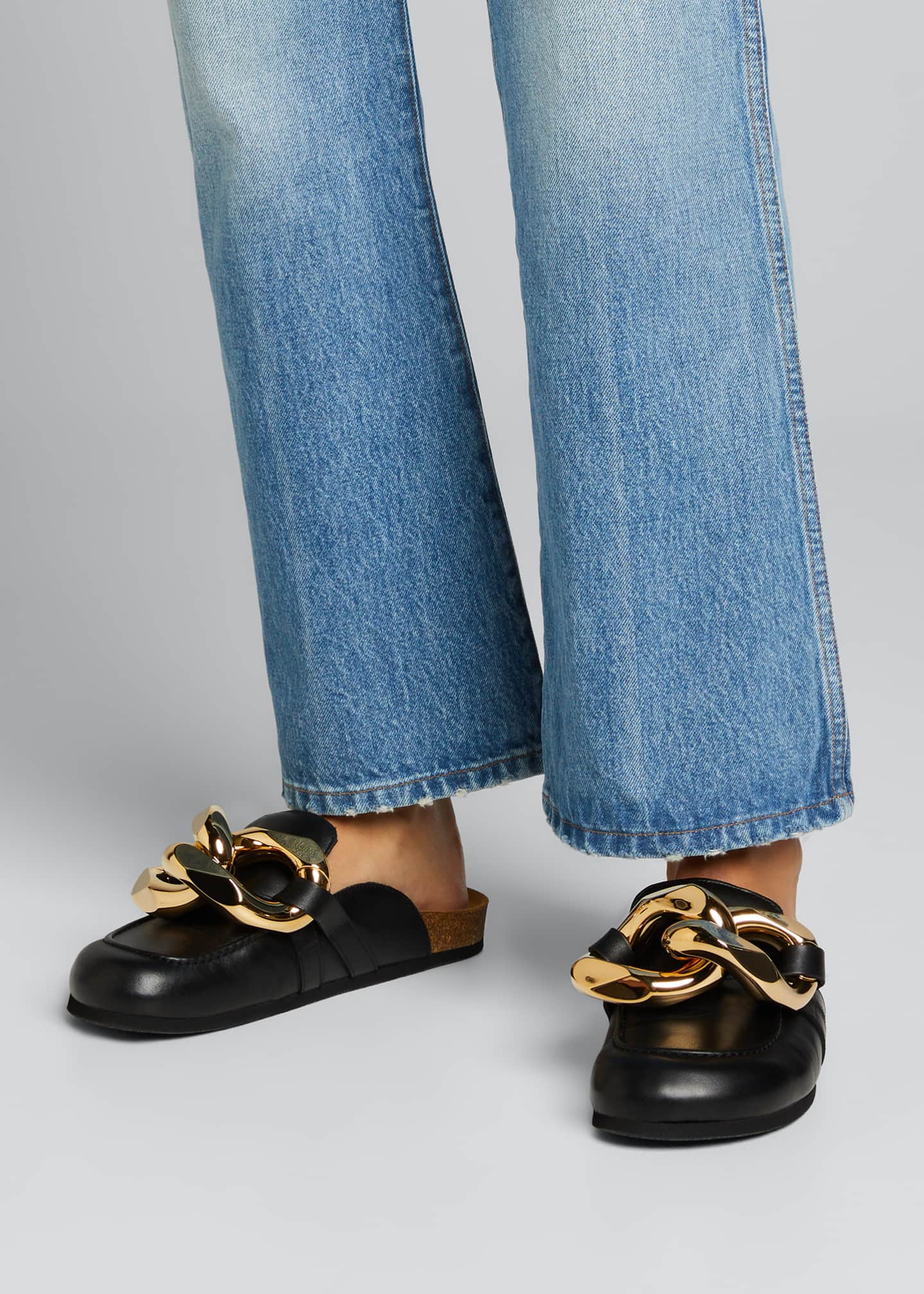 Image 2 of 5: Chunky Napa Chain Slide Mules