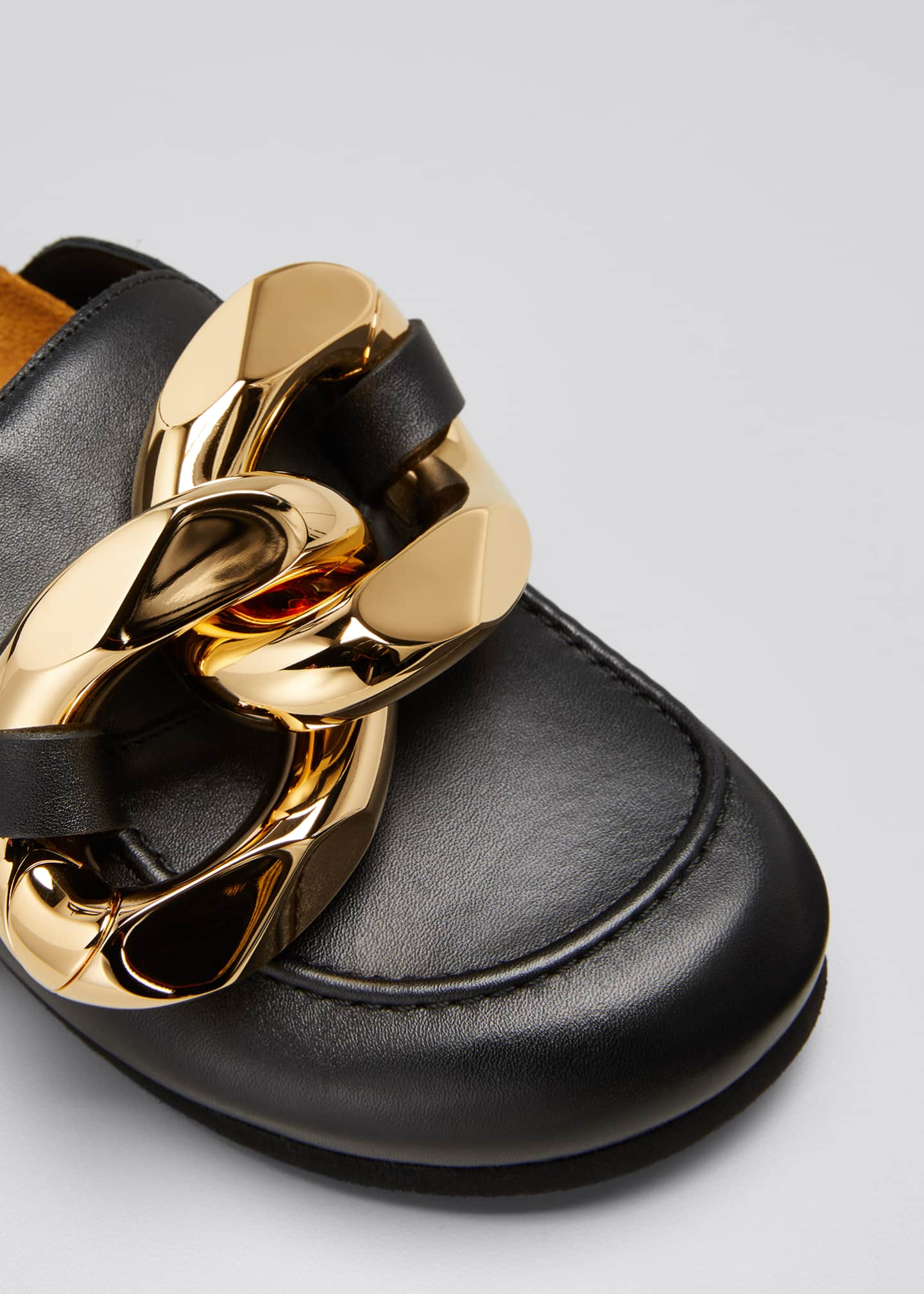Image 5 of 5: Chunky Napa Chain Slide Mules