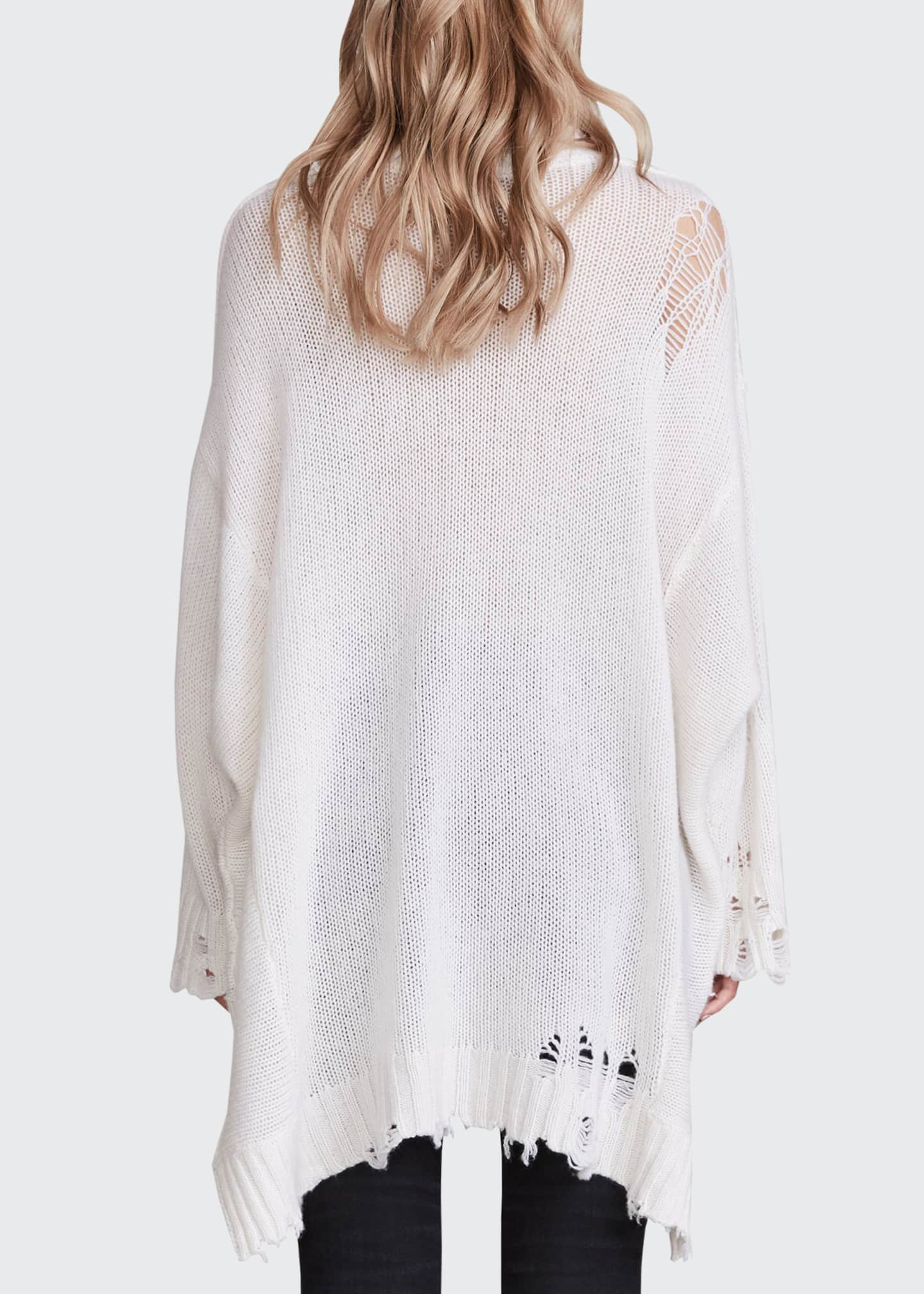 Image 2 of 2: Patti Cashmere Distressed Sweater