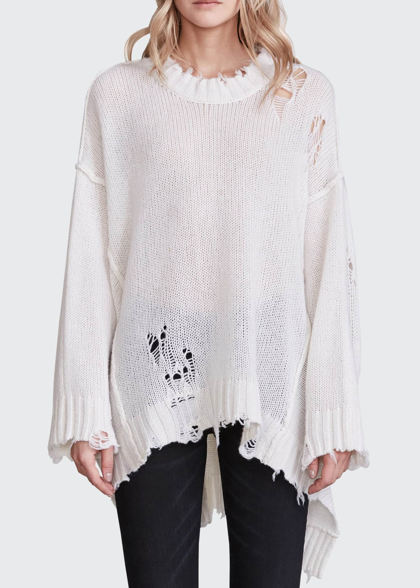 Image 1 of 2: Patti Cashmere Distressed Sweater