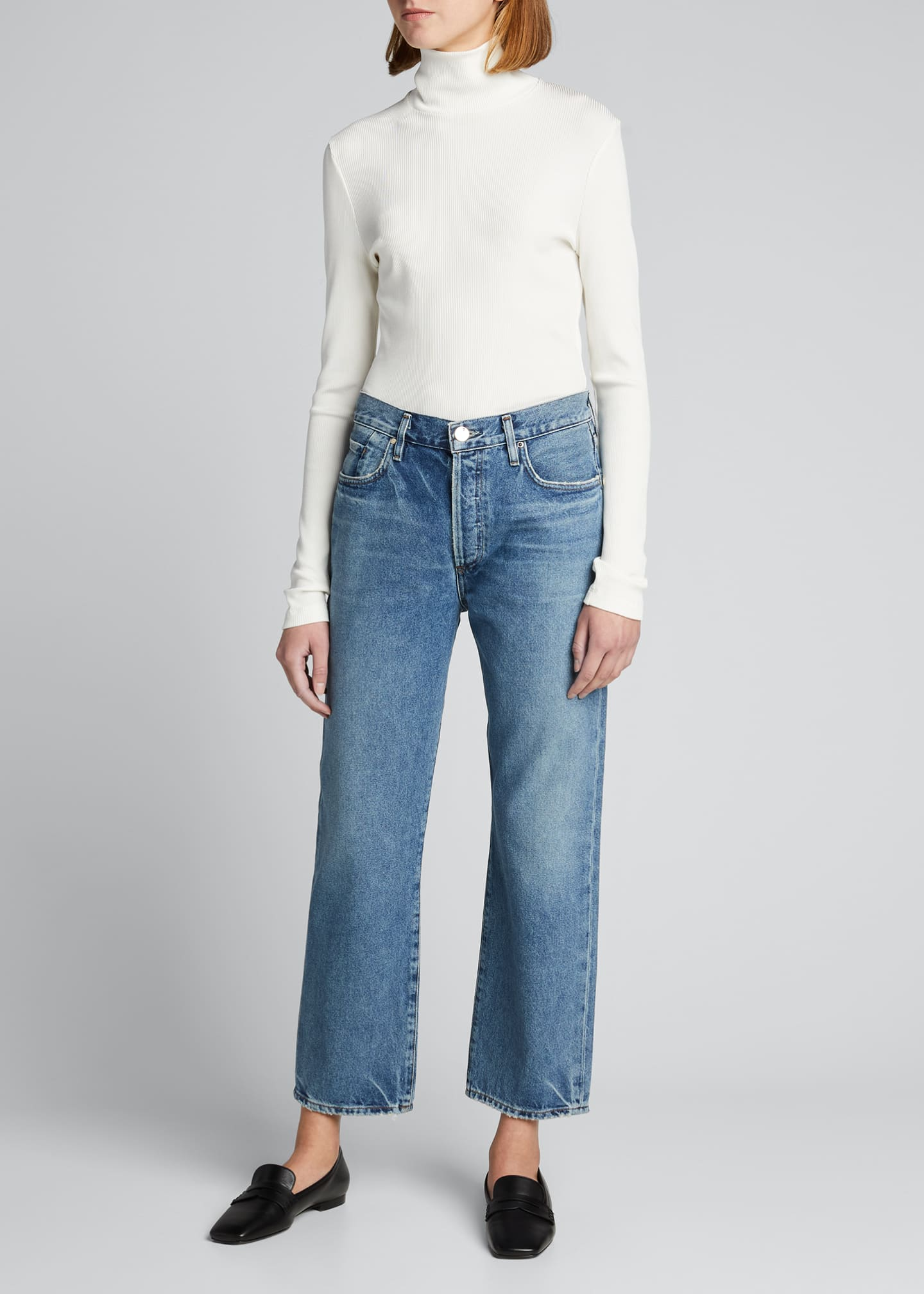 Image 1 of 5: The Relaxed Straight-Leg Jeans