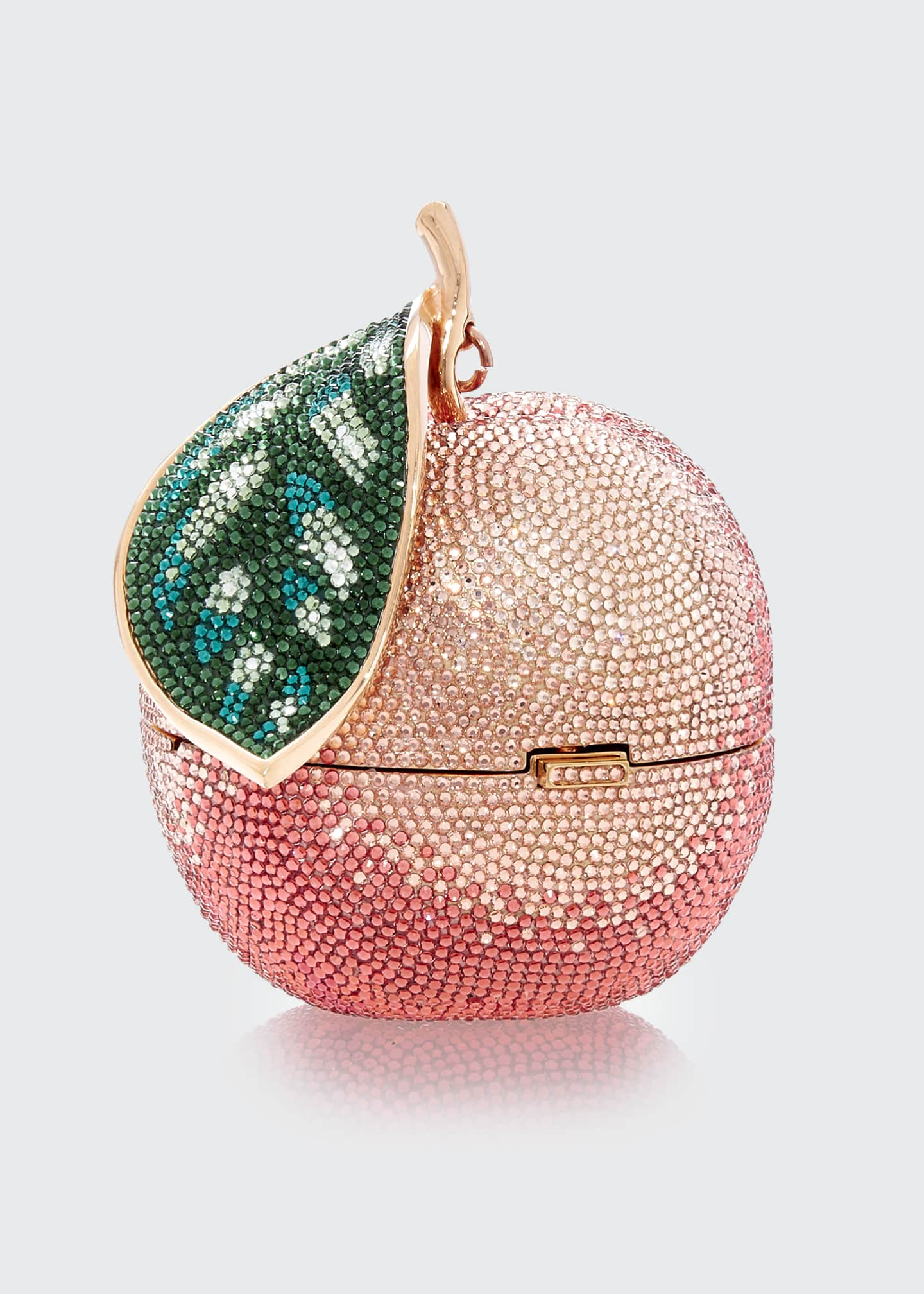 Image 2 of 3: Apple Peach Shimmery Clutch Bag