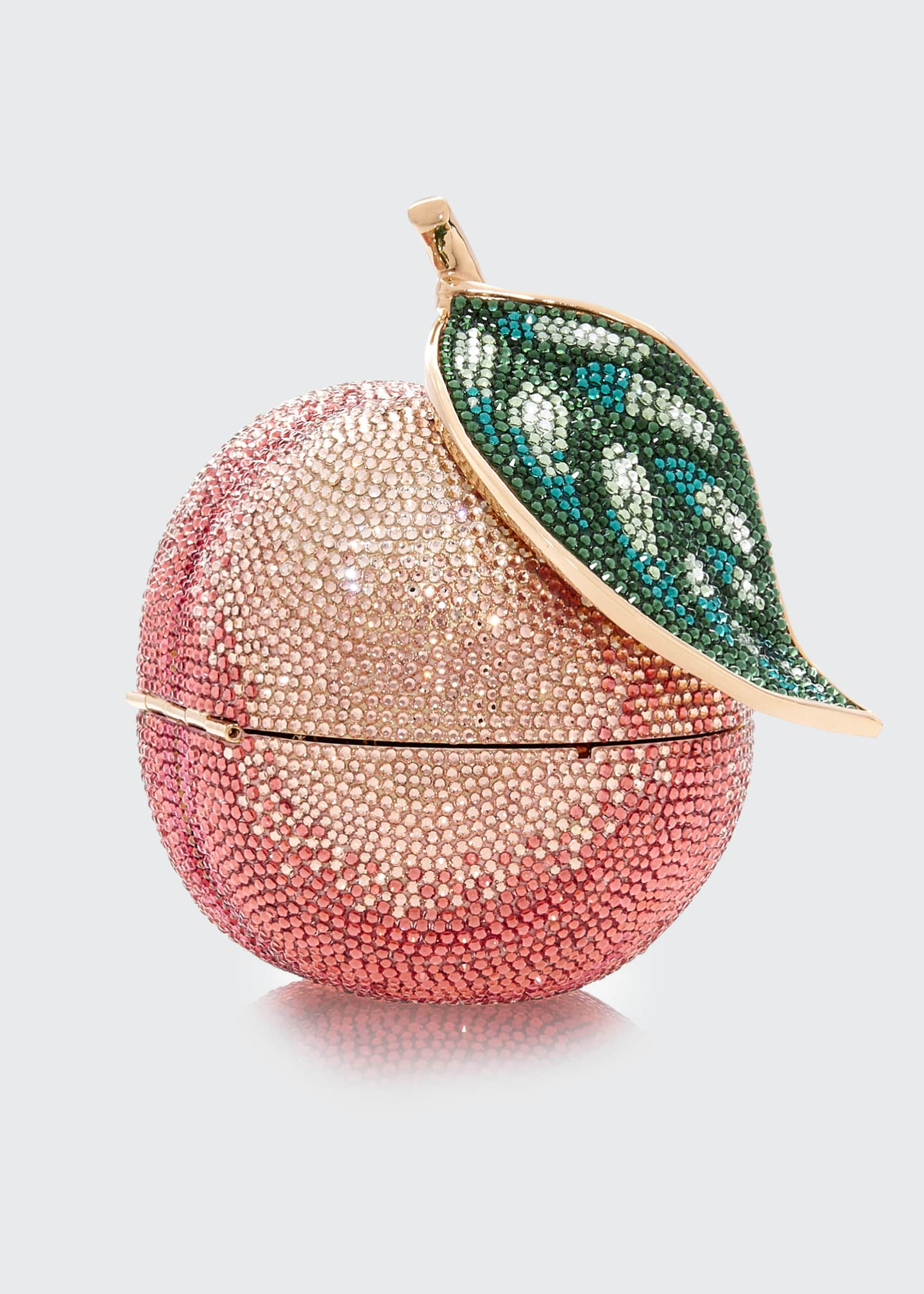 Image 1 of 3: Apple Peach Shimmery Clutch Bag