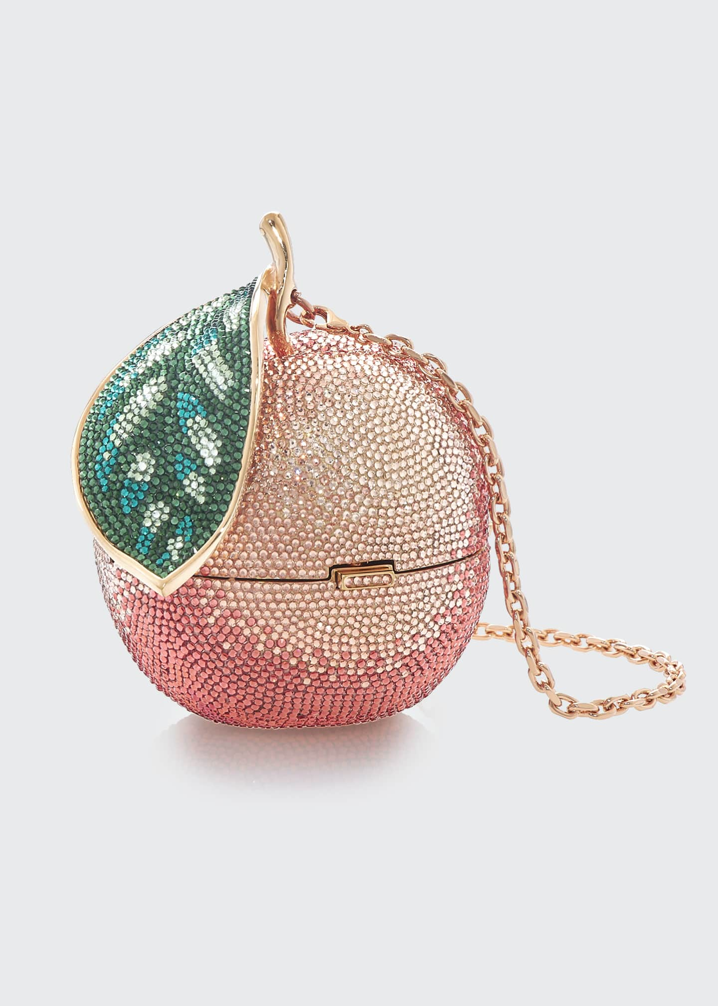 Image 3 of 3: Apple Peach Shimmery Clutch Bag