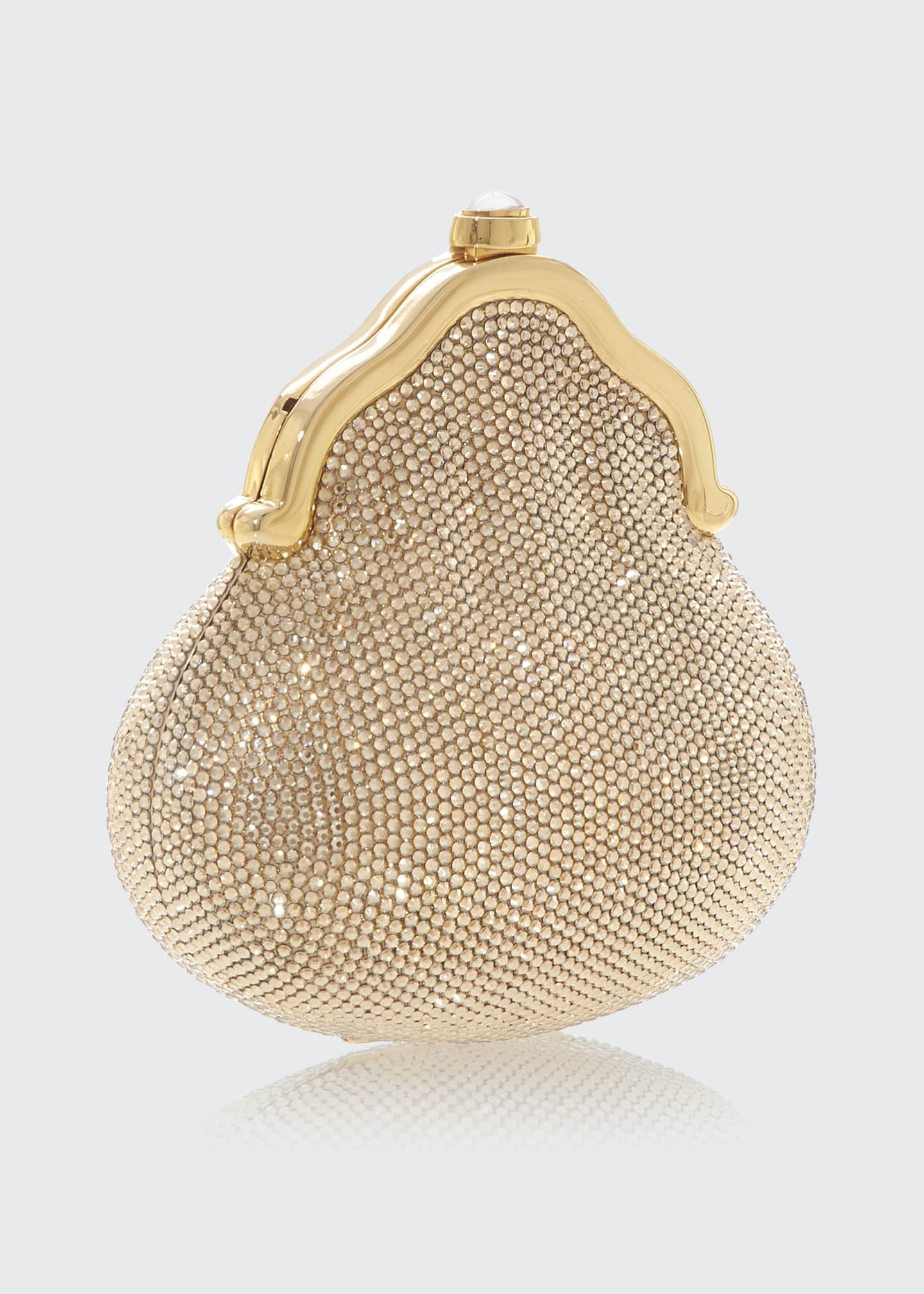 Image 2 of 2: Chatelaine Shimmering Crystal Pouch Clutch Bag