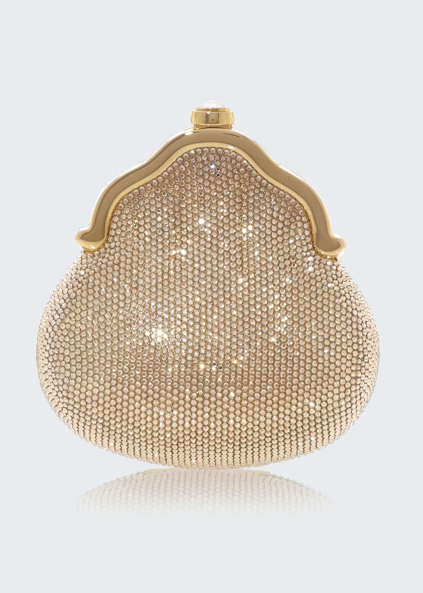 Image 1 of 2: Chatelaine Shimmering Crystal Pouch Clutch Bag