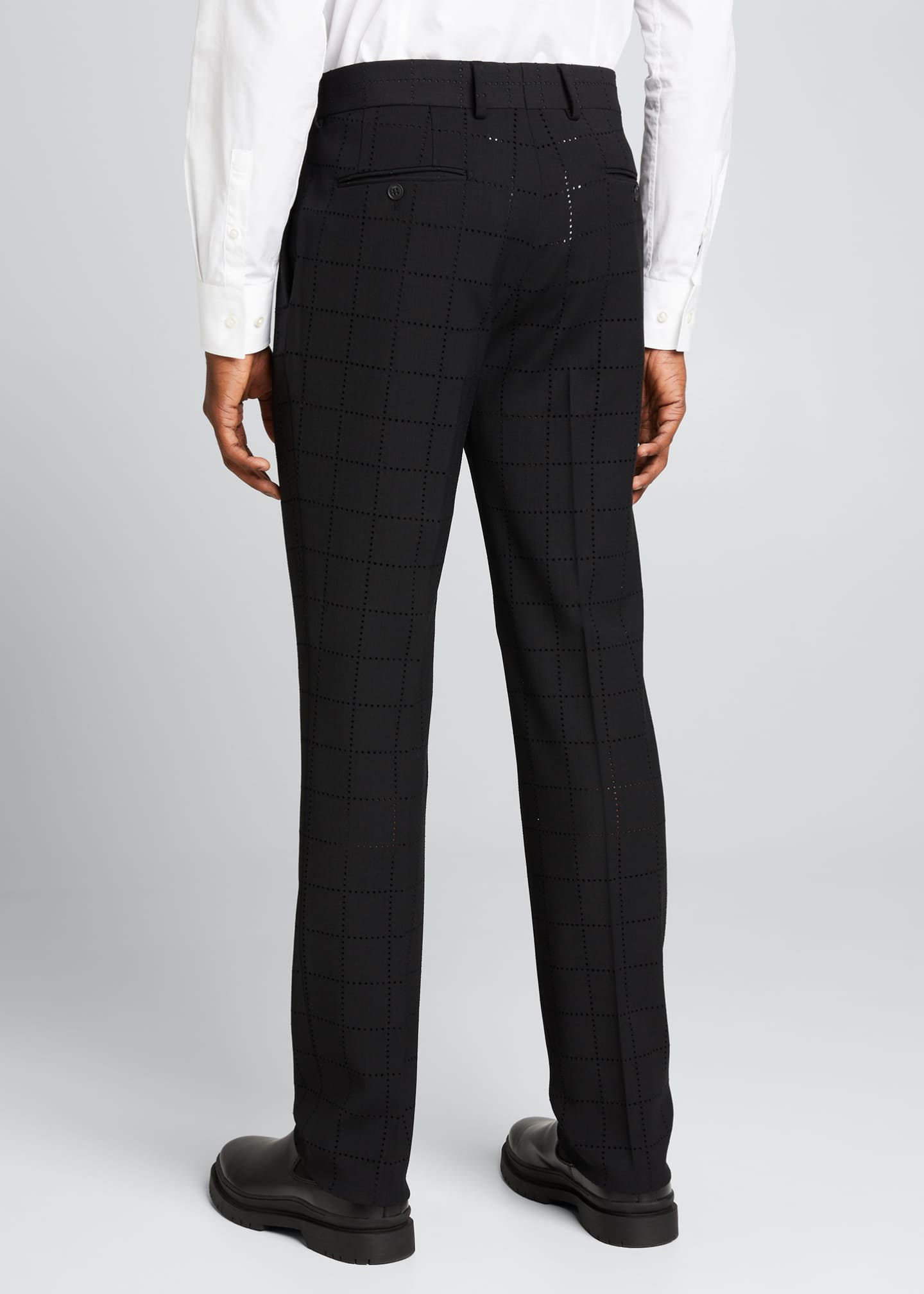 Image 2 of 5: Men's Punched Squares Dress Pants