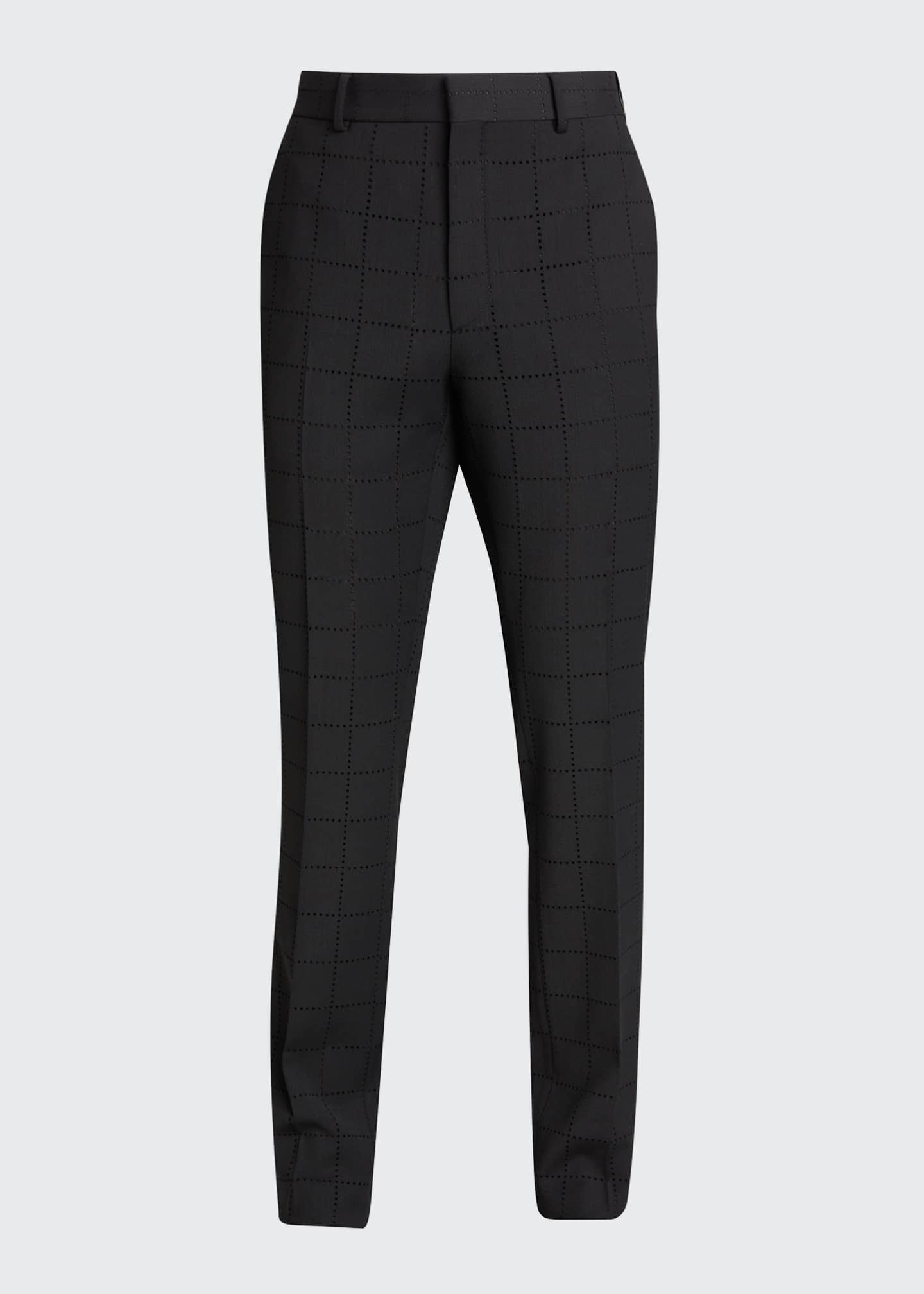 Image 5 of 5: Men's Punched Squares Dress Pants