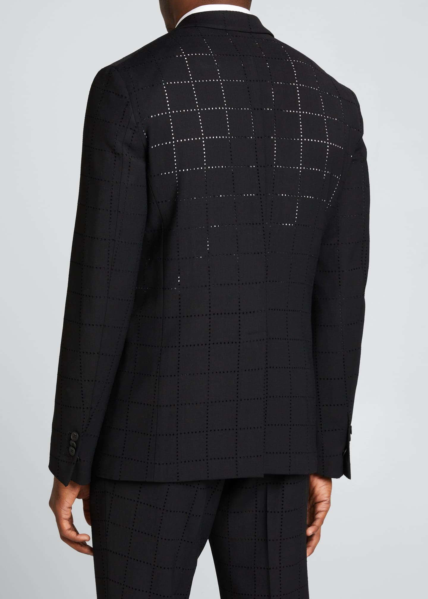 Image 2 of 5: Men's Punched Squares Suit Jacket