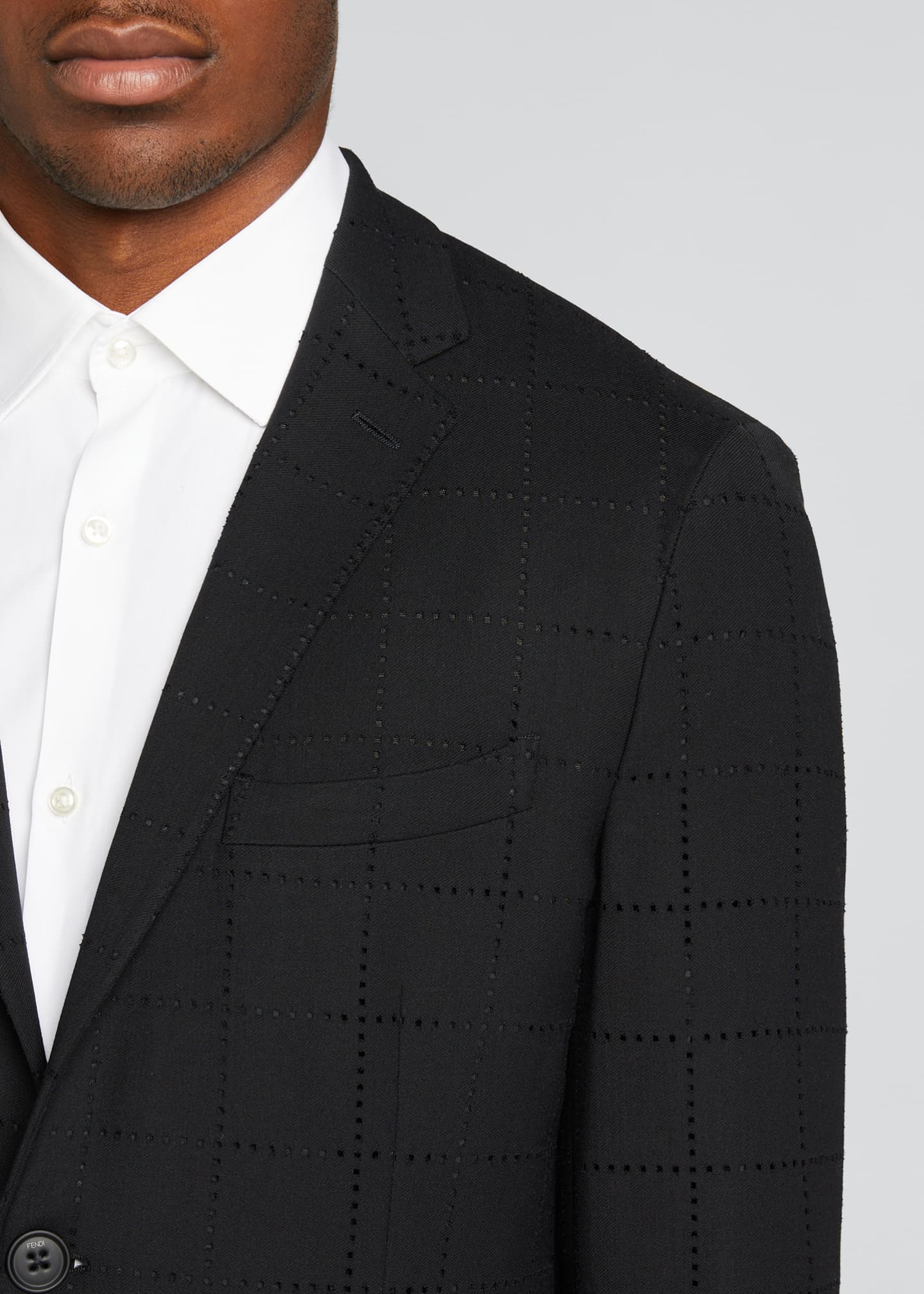 Image 4 of 5: Men's Punched Squares Suit Jacket