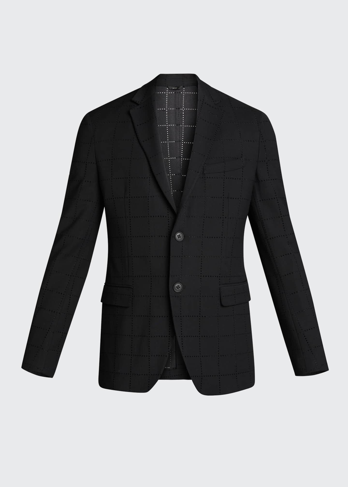 Image 5 of 5: Men's Punched Squares Suit Jacket