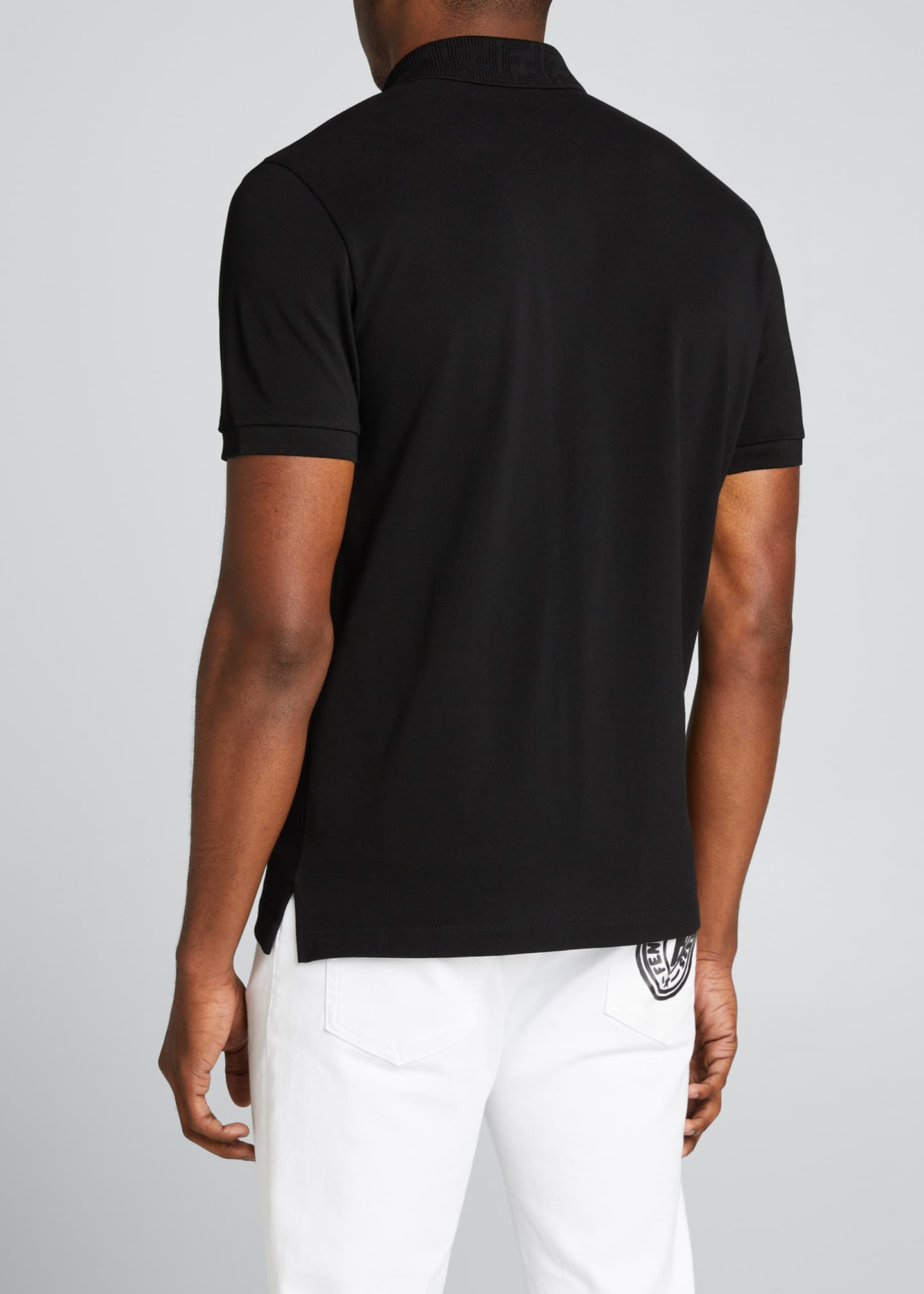Image 2 of 5: Men's Pique Polo Shirt w/ Mesh FF Patch