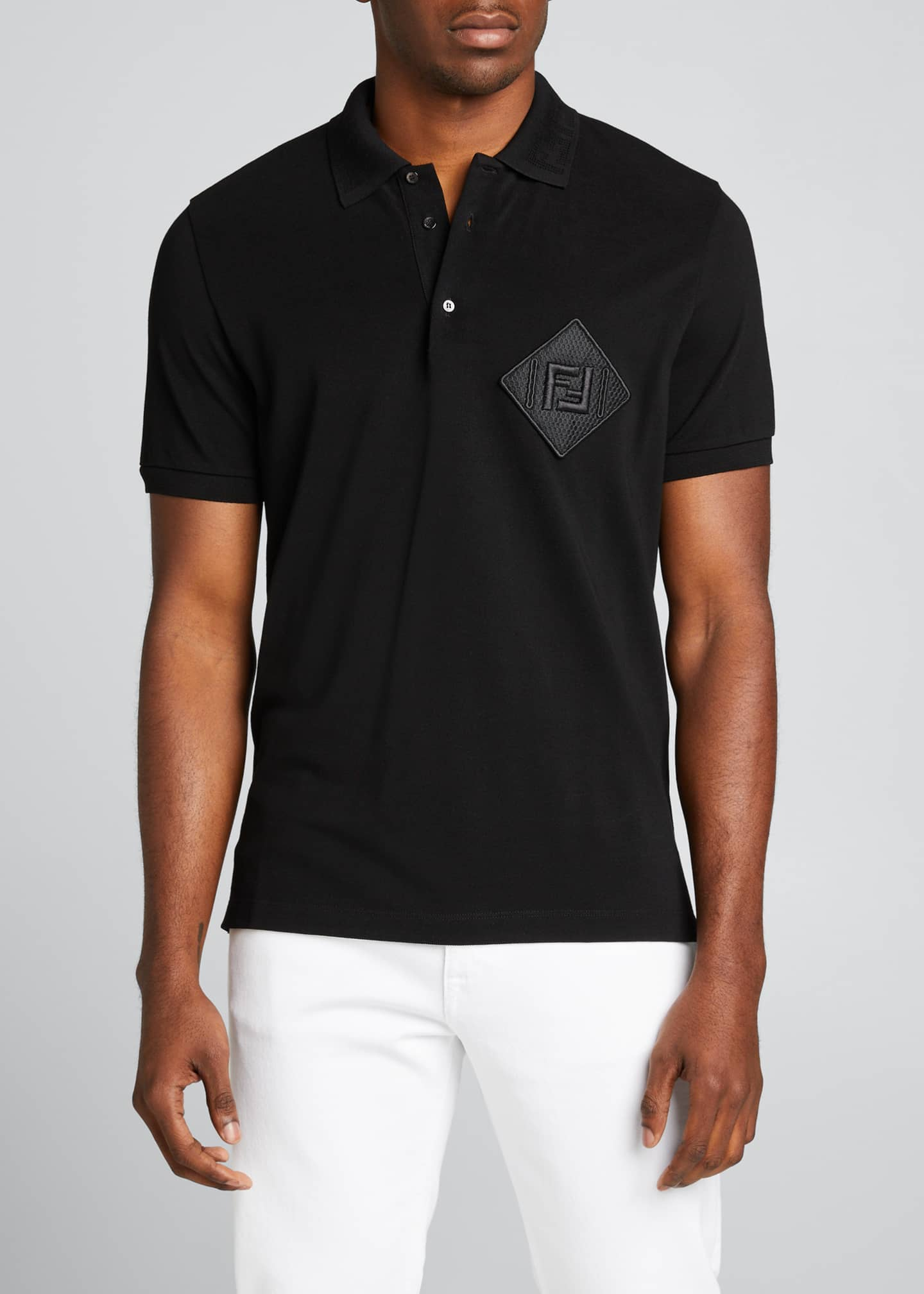 Image 3 of 5: Men's Pique Polo Shirt w/ Mesh FF Patch