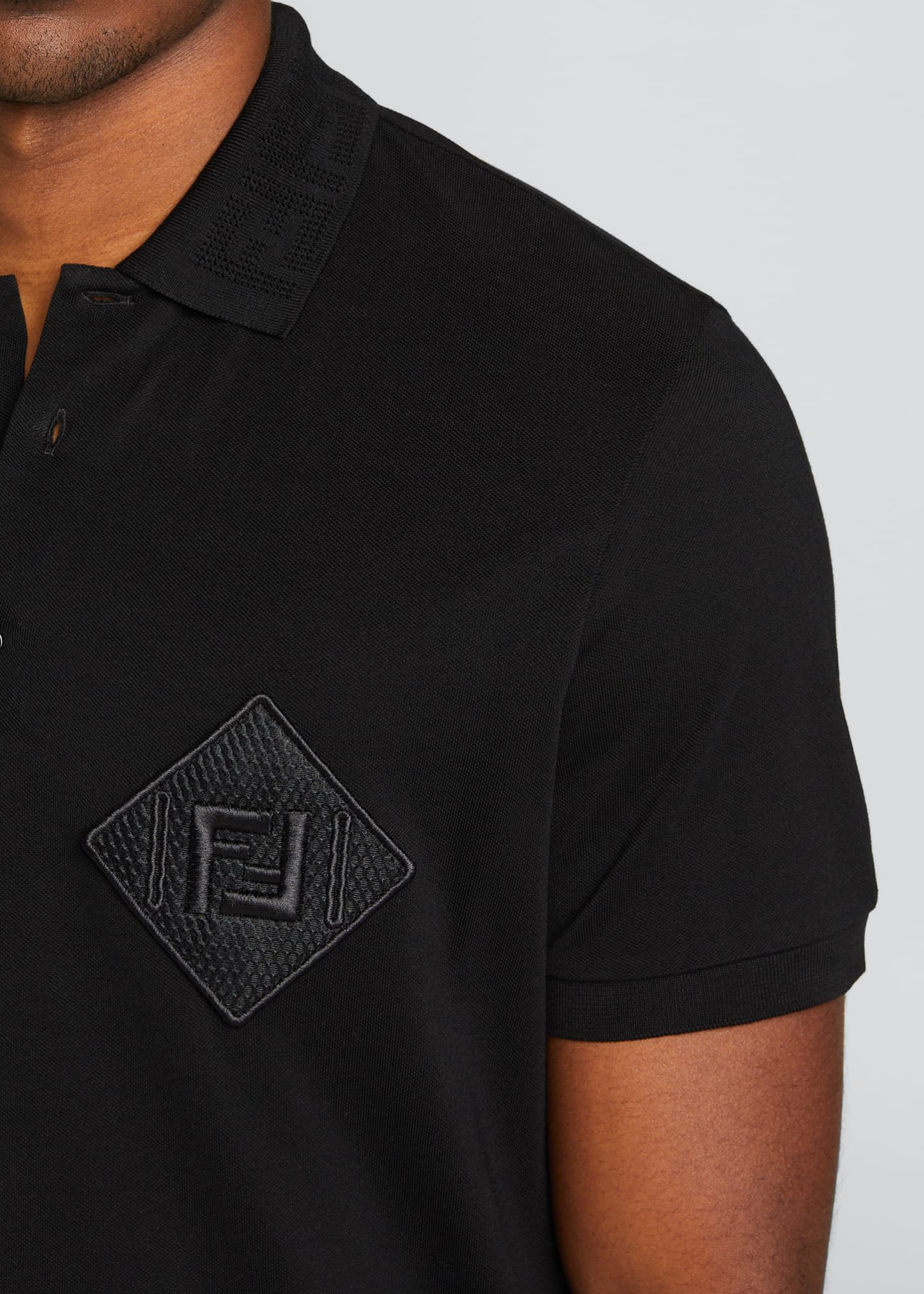 Image 4 of 5: Men's Pique Polo Shirt w/ Mesh FF Patch