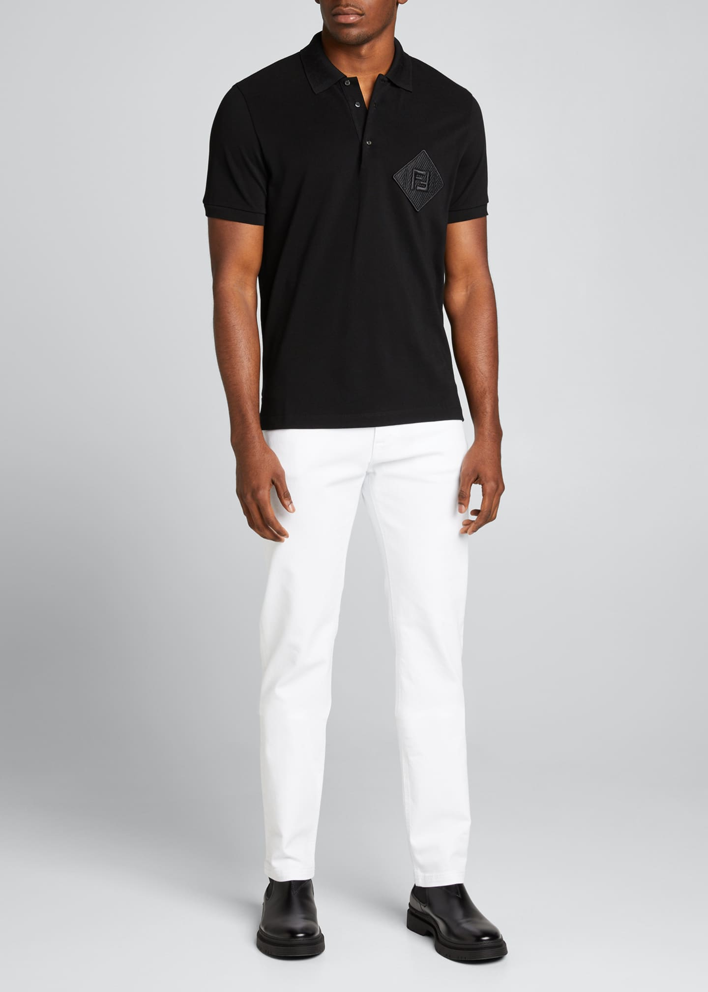 Image 1 of 5: Men's Pique Polo Shirt w/ Mesh FF Patch