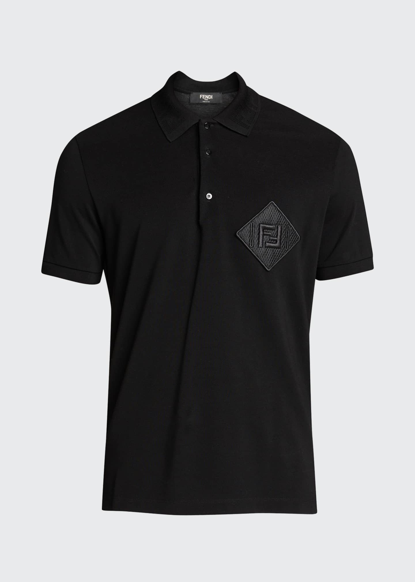 Image 5 of 5: Men's Pique Polo Shirt w/ Mesh FF Patch