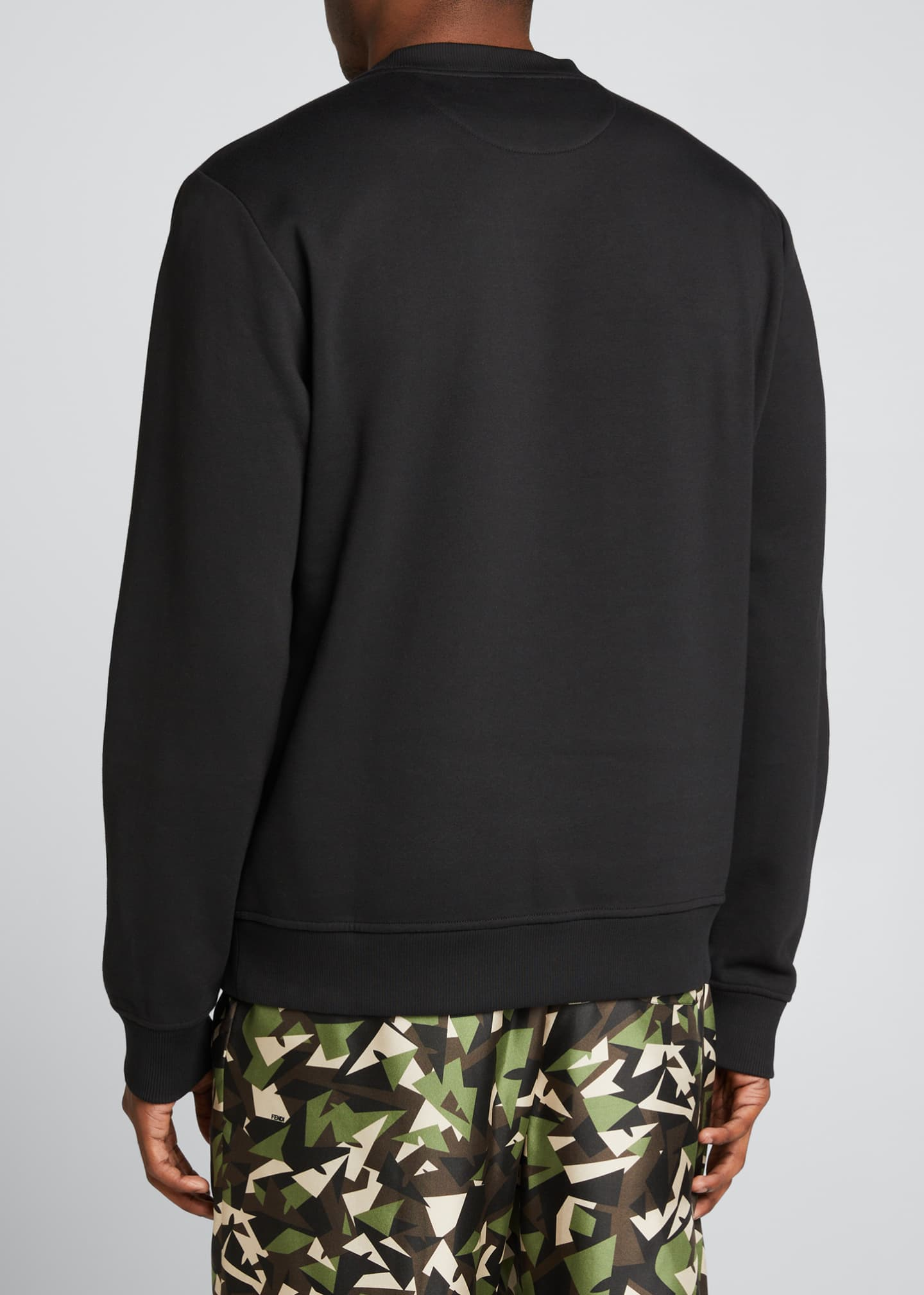 Image 2 of 5: Men's Camo Bugs Pieced Sweatshirt