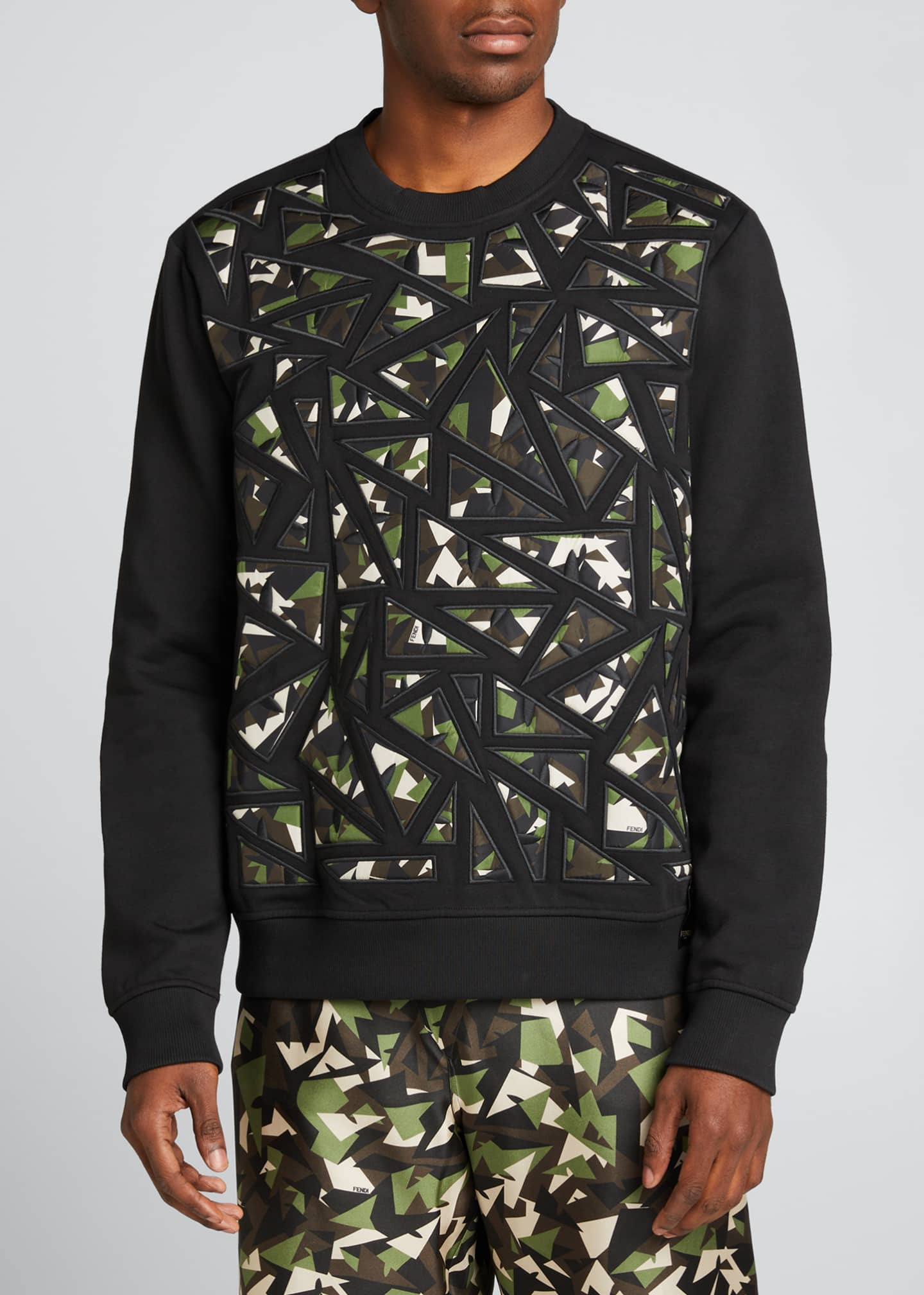 Image 3 of 5: Men's Camo Bugs Pieced Sweatshirt