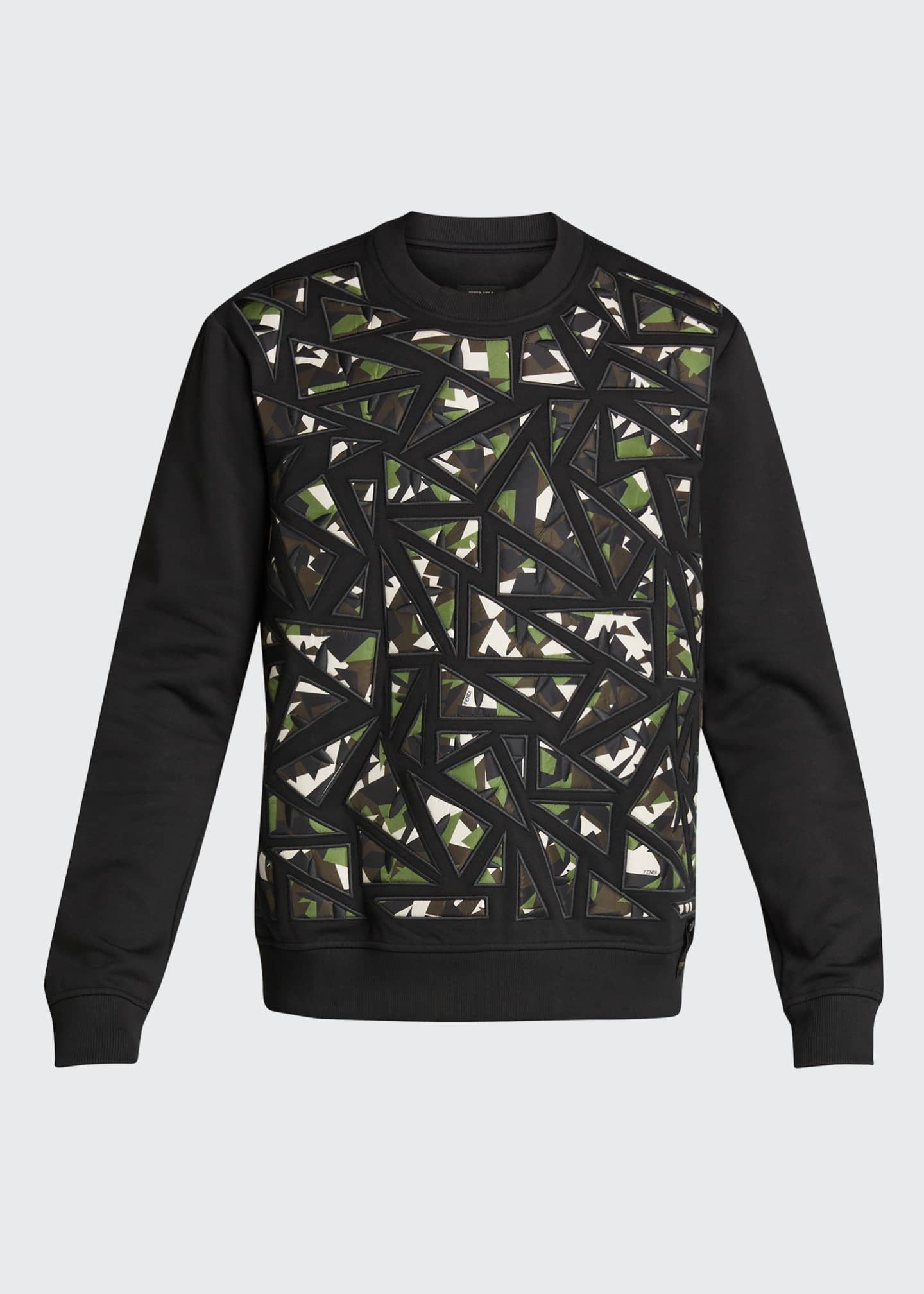 Image 5 of 5: Men's Camo Bugs Pieced Sweatshirt