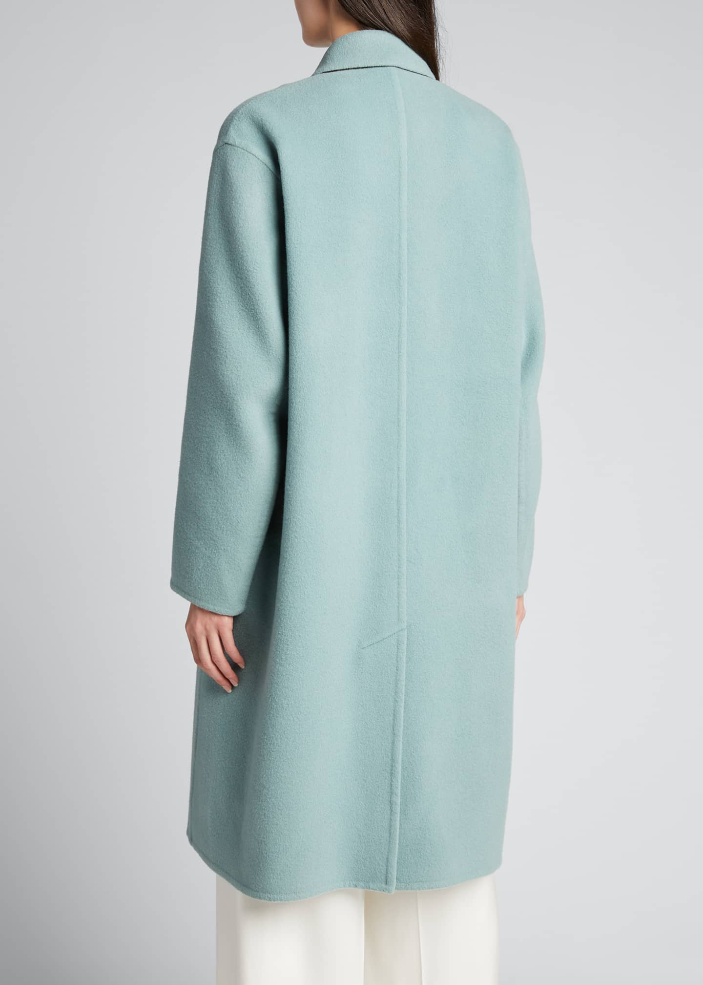 Image 2 of 5: Double-Breasted Oversized Wool-Blend Coat